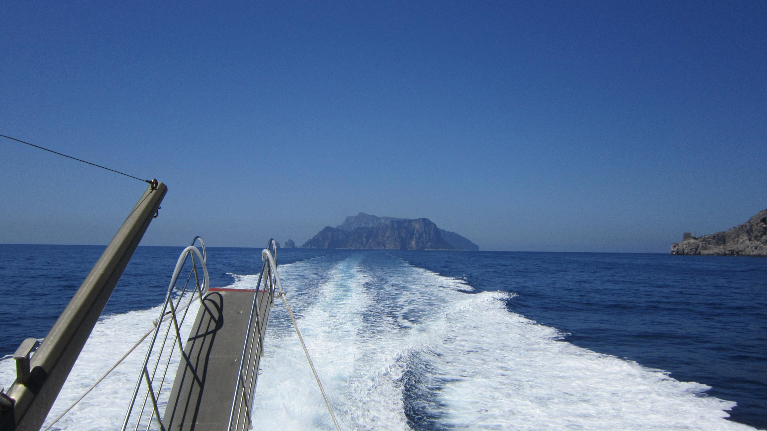 On the boat ride to our hotel in Capri