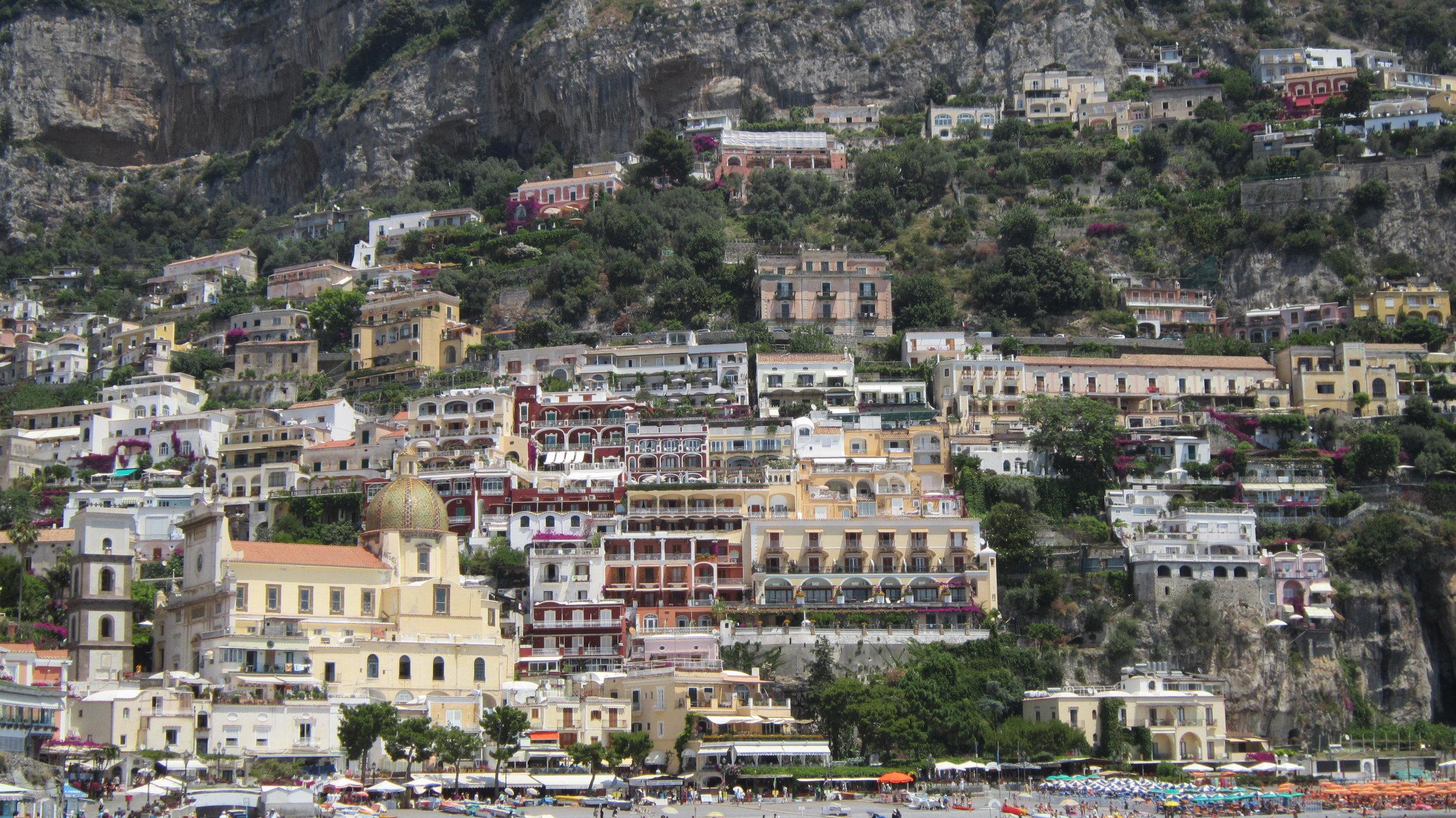 Parting shot of Positano as we head back to Capri.