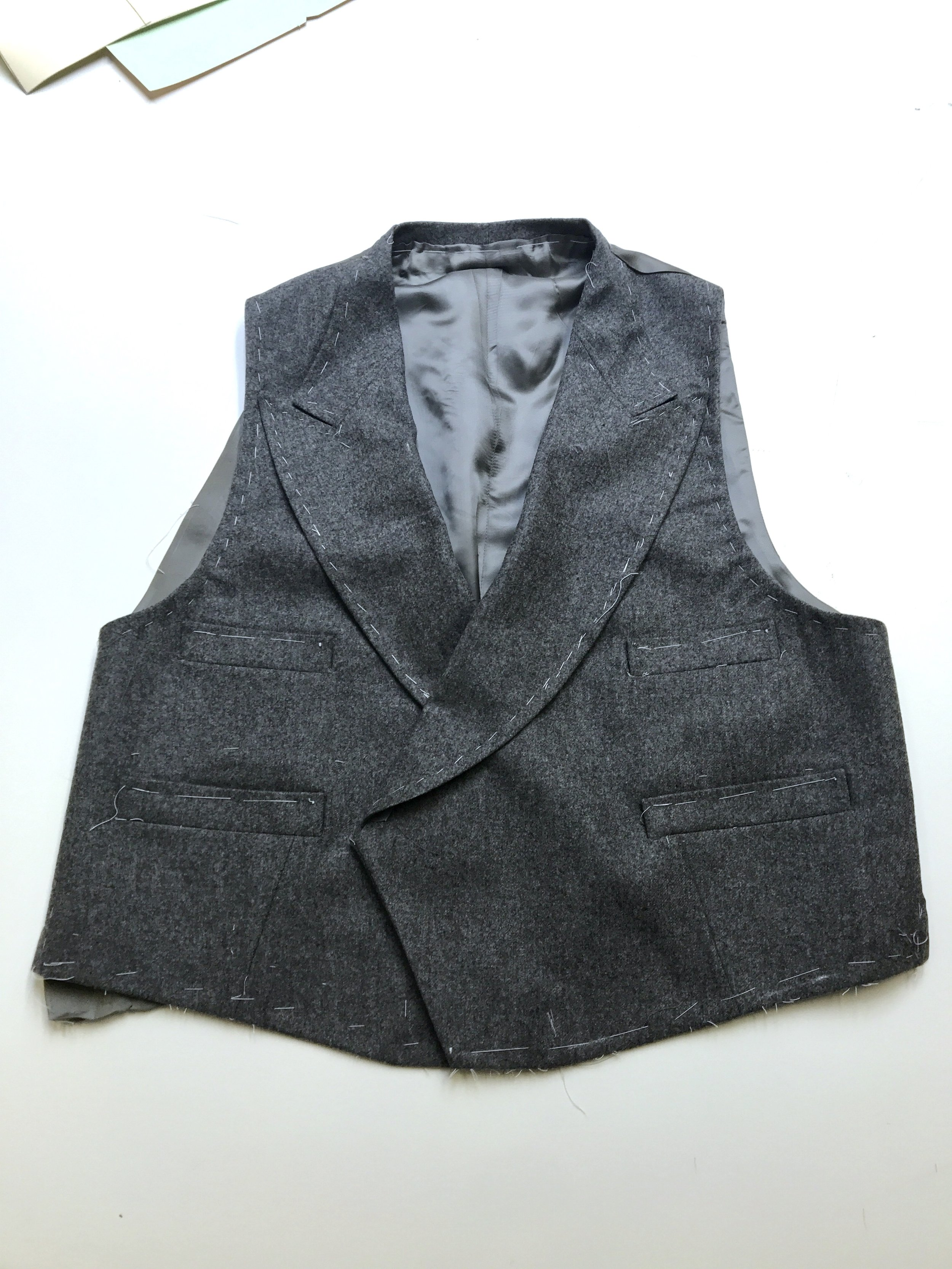 Crowley's bespoke double-breasted waistcoat, made on premises by our master tailor.