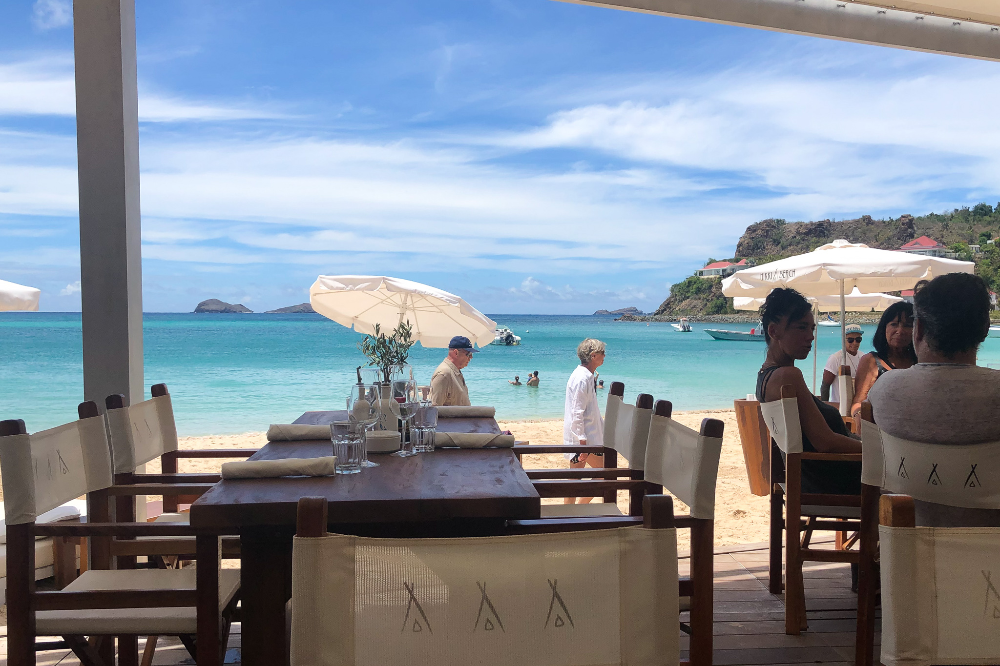 Lunch on the water at the iconic Nikki beach club.