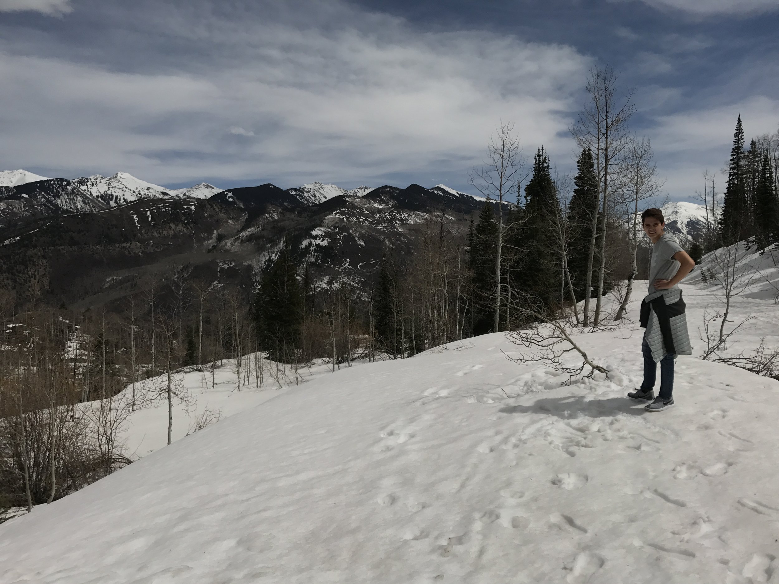 This is nephew on the mountain at McClure Pass. Obviously he was concerned that I kept falling with my inappropriate shoes and generally had a freakout because I thought we would fall off the mountain (no he wasn't).