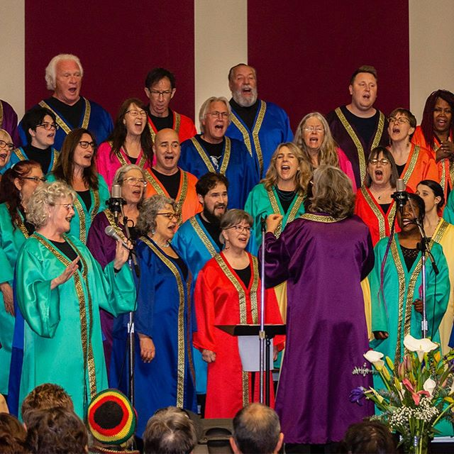Big thanks to Arcata photographer Mark Larson for these great shots from Sunday's Prayer Breakfast! This was the last performance of the season. If you are interested in auditioning for the choir next fall, please follow the link in our bio to contact us.  #arcata #interfaith #gospelchoir #community #choir #prayerbreakfast #rejoice #sing #joinus #gospelmusic #rainbowchoir #humboldt #spirit
