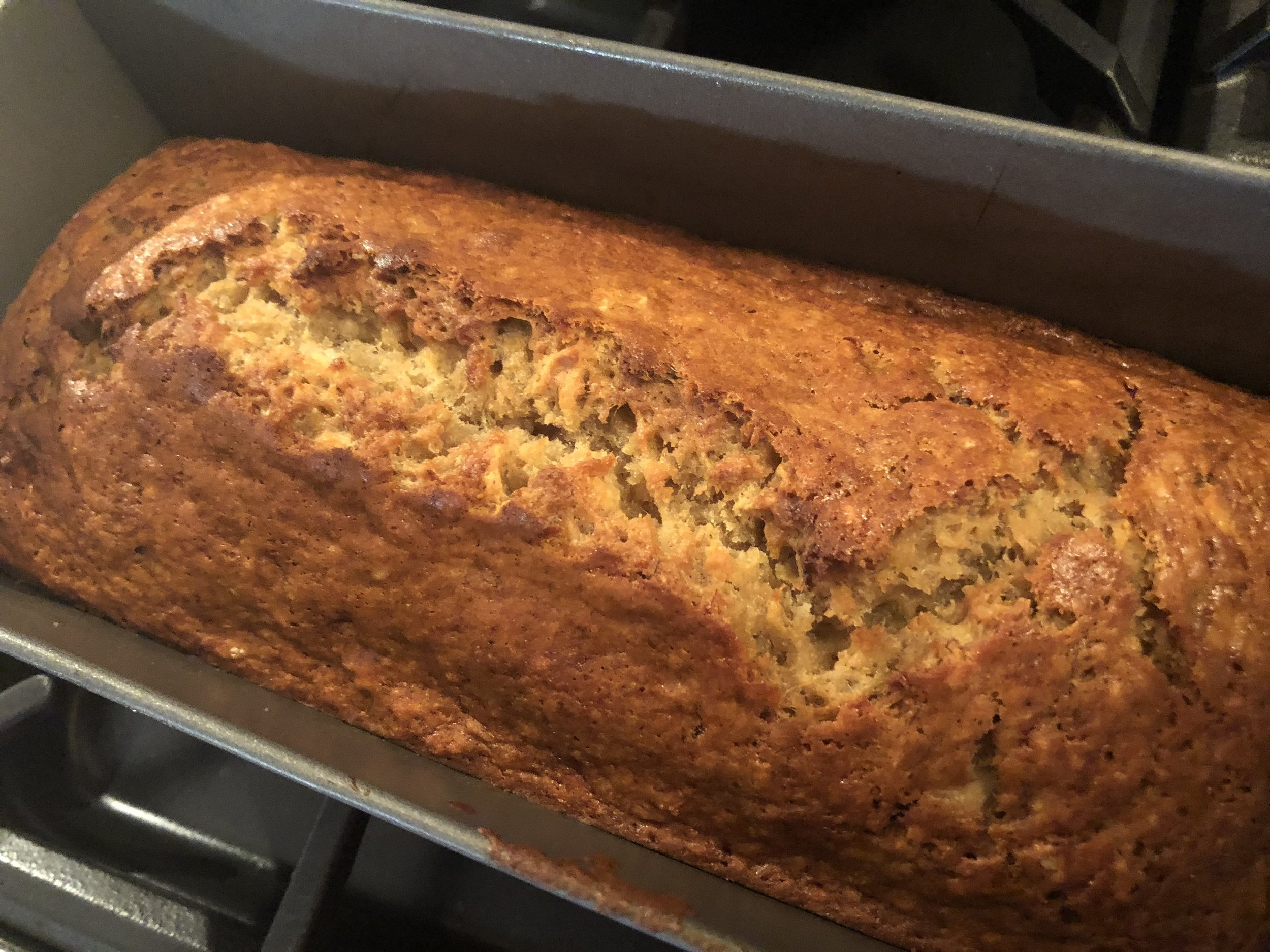 Banana bread, fresh from the oven
