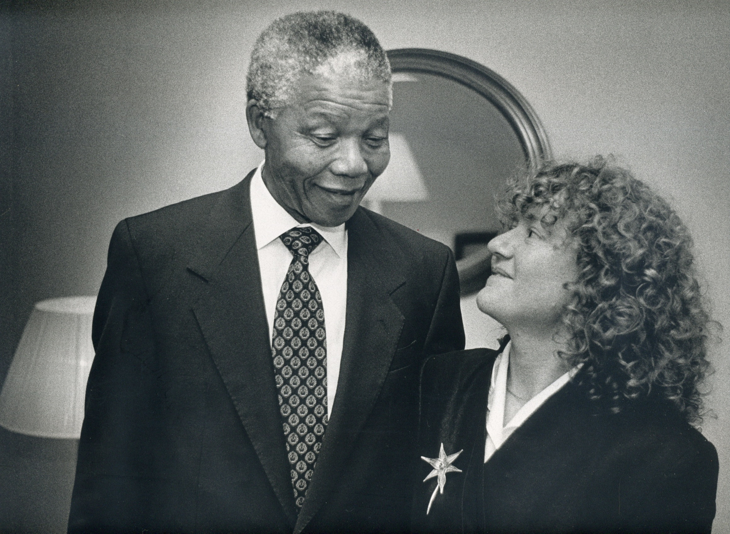 - Sylvester's daughter Lyndall gets to meet Mandela. You can read Lyndall's story here.Photo: Laurie Sparham