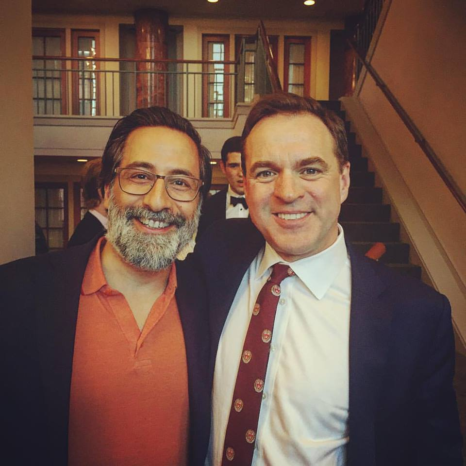 Alex with historian Niall Ferguson at the Center for European Studies at Harvard