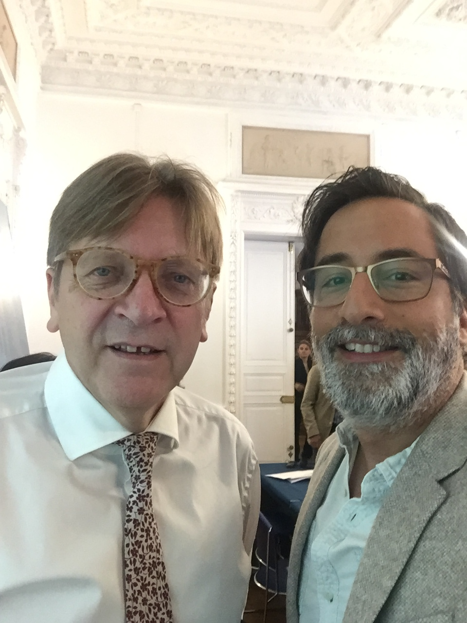 also at the conference: Guy Verhofstadt, Belgian liberal and member of the European Parliament