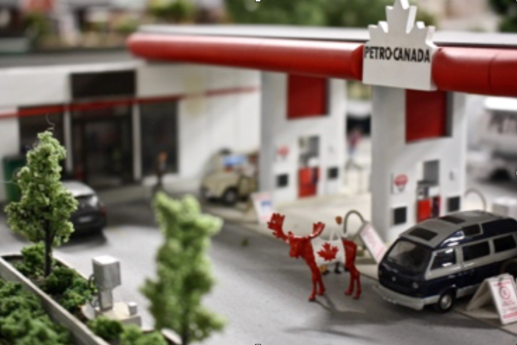 First stop, gas! After filling up at his local Petro Canada, Maurice grabs some ketchup chips - his favourite - from the convenience store and heads off to his next destination. He leaves knowing that he will soon return as his mini gas tank will not last him for very long. -