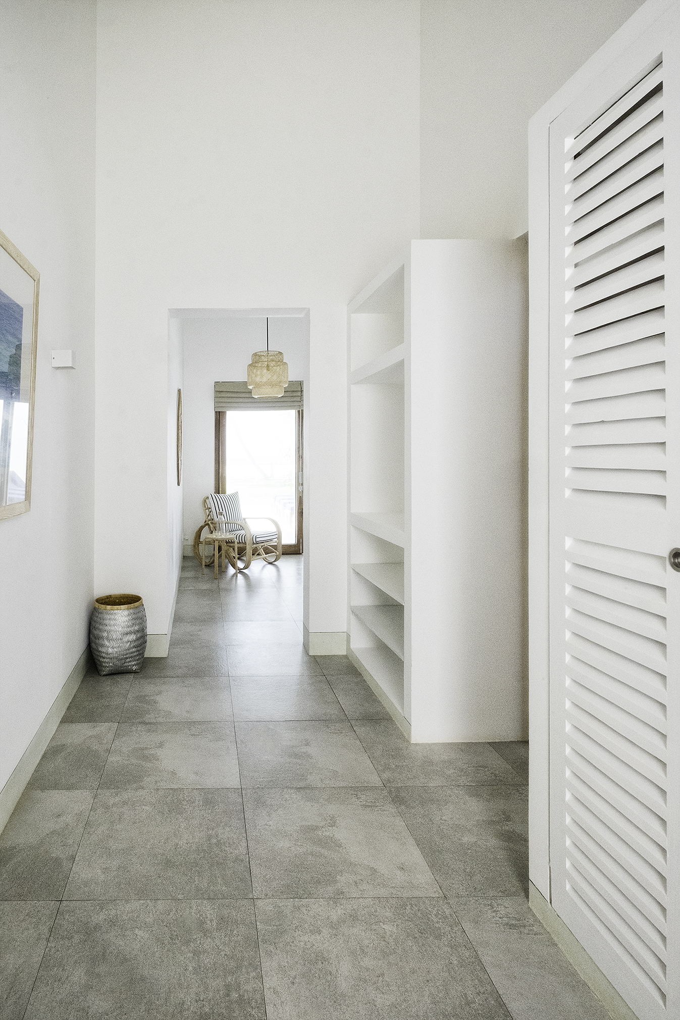 Walk-in warbrobe and entrance to Bedroom 2 with ocean views