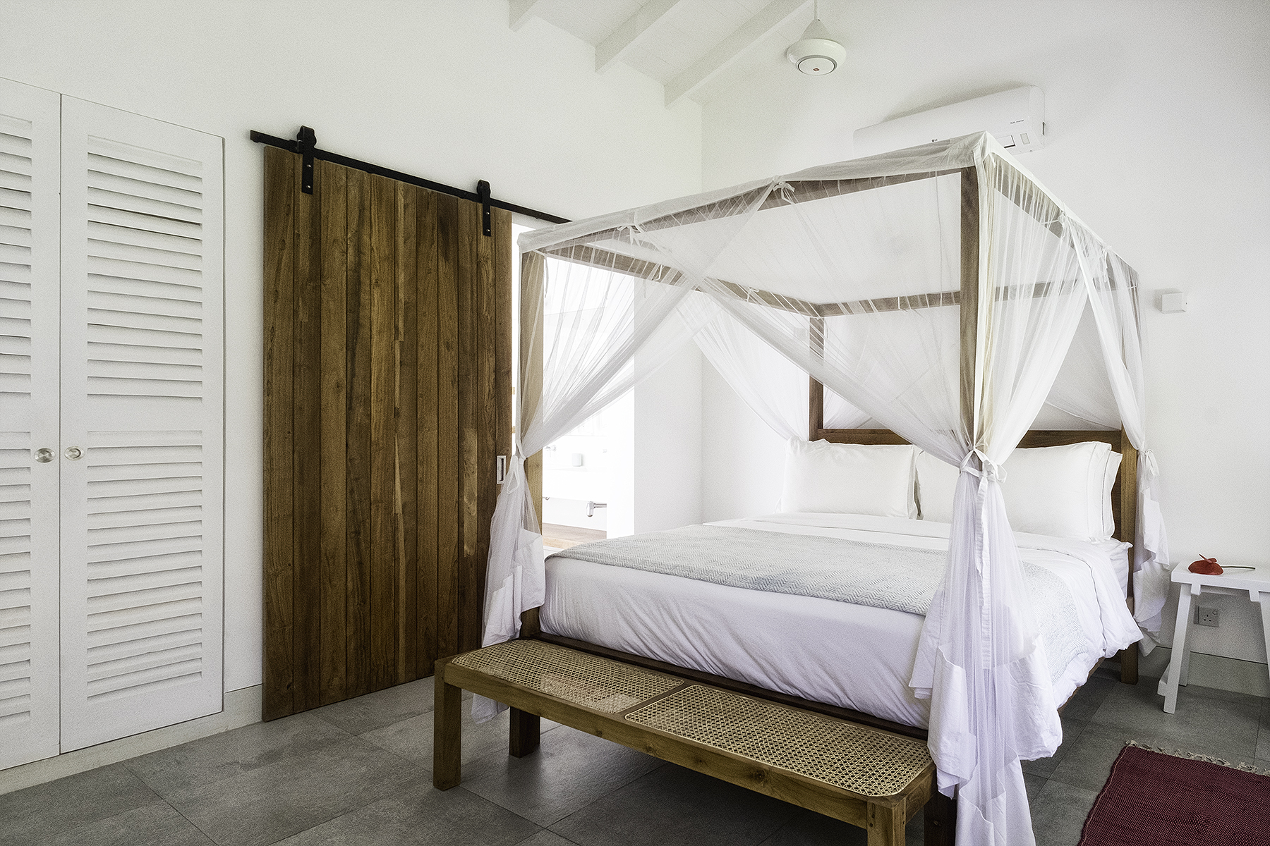 Bedroom 3 with courtyard views
