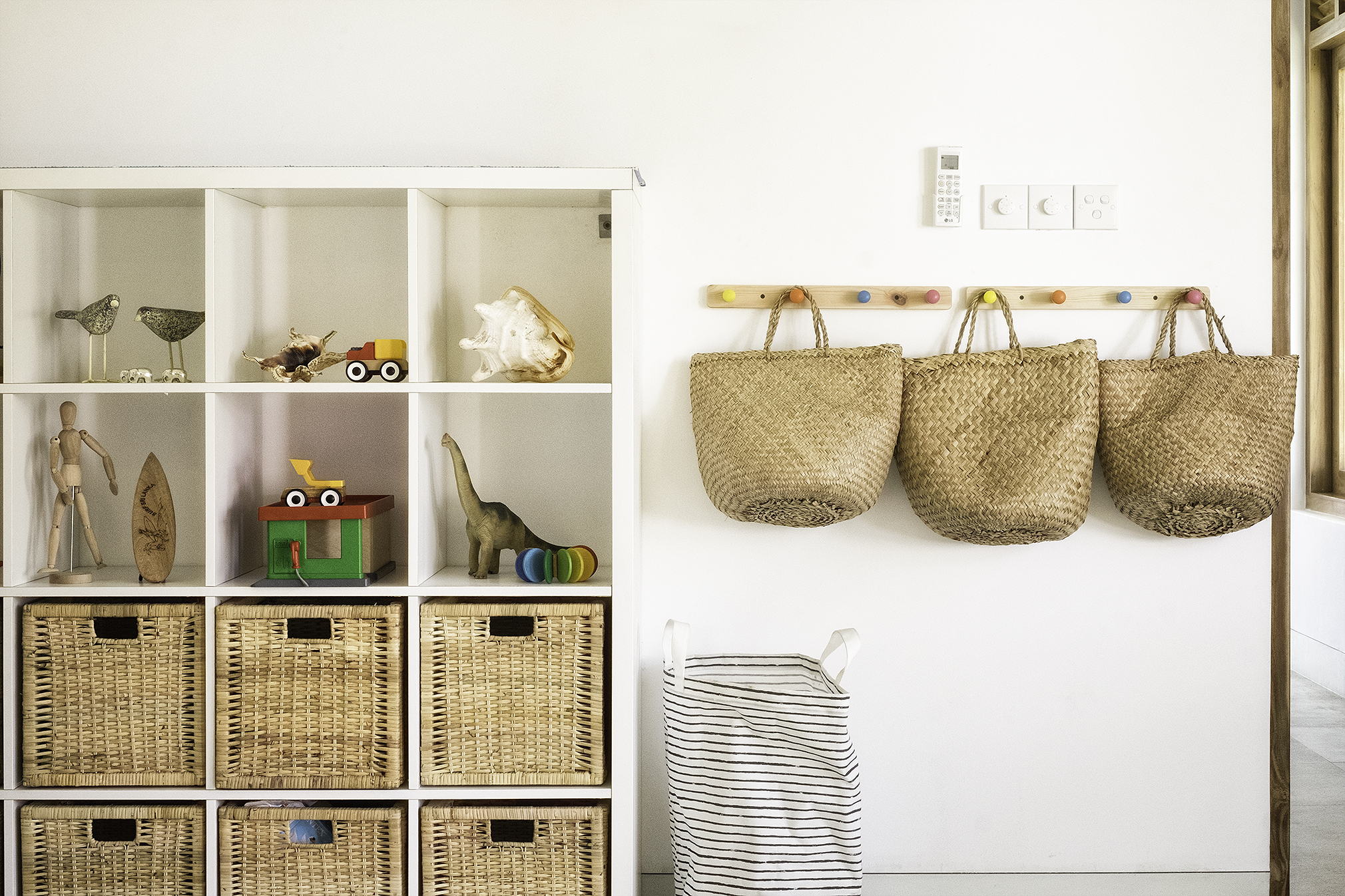 Storage and toys in Kids Room