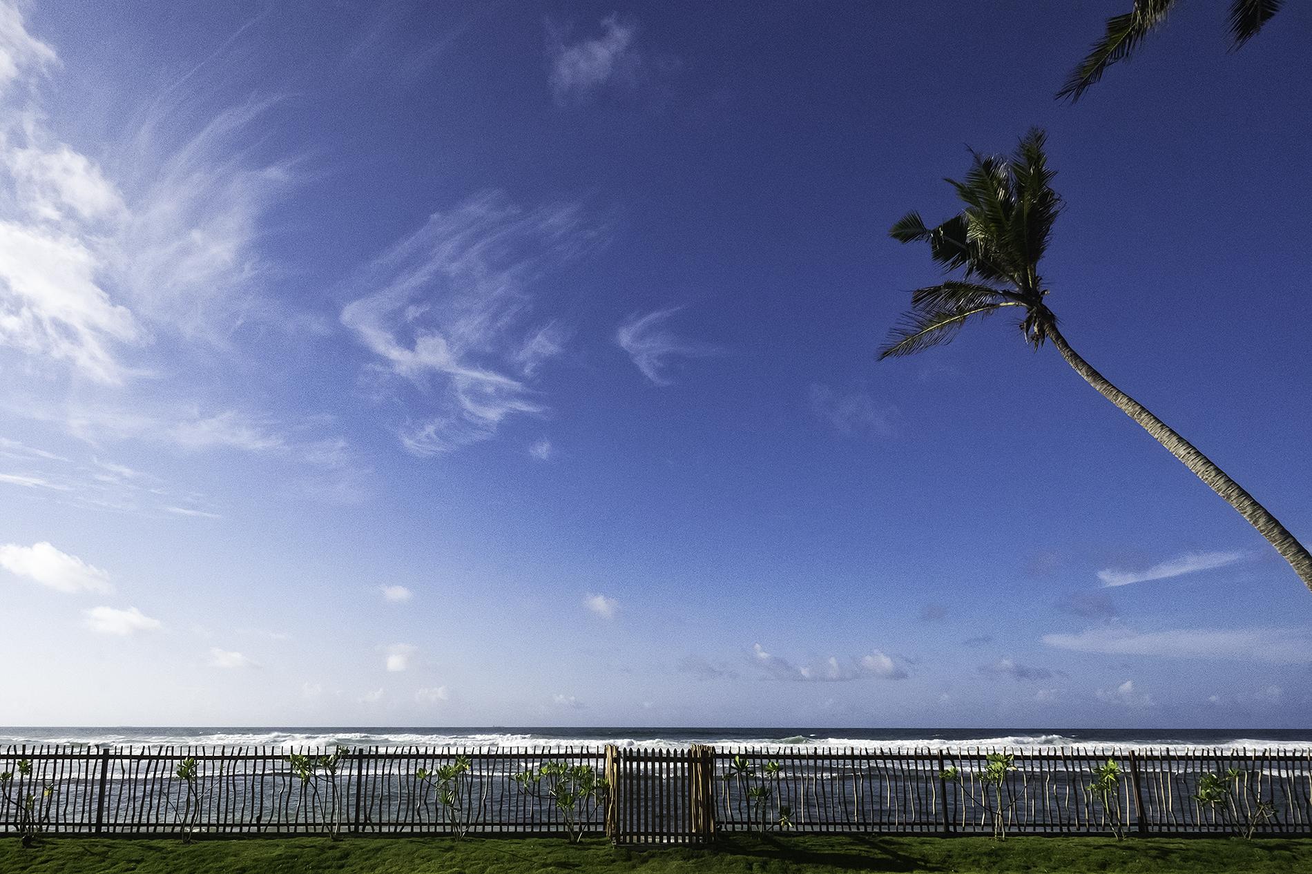 The huge blue skies of the Indian Ocean