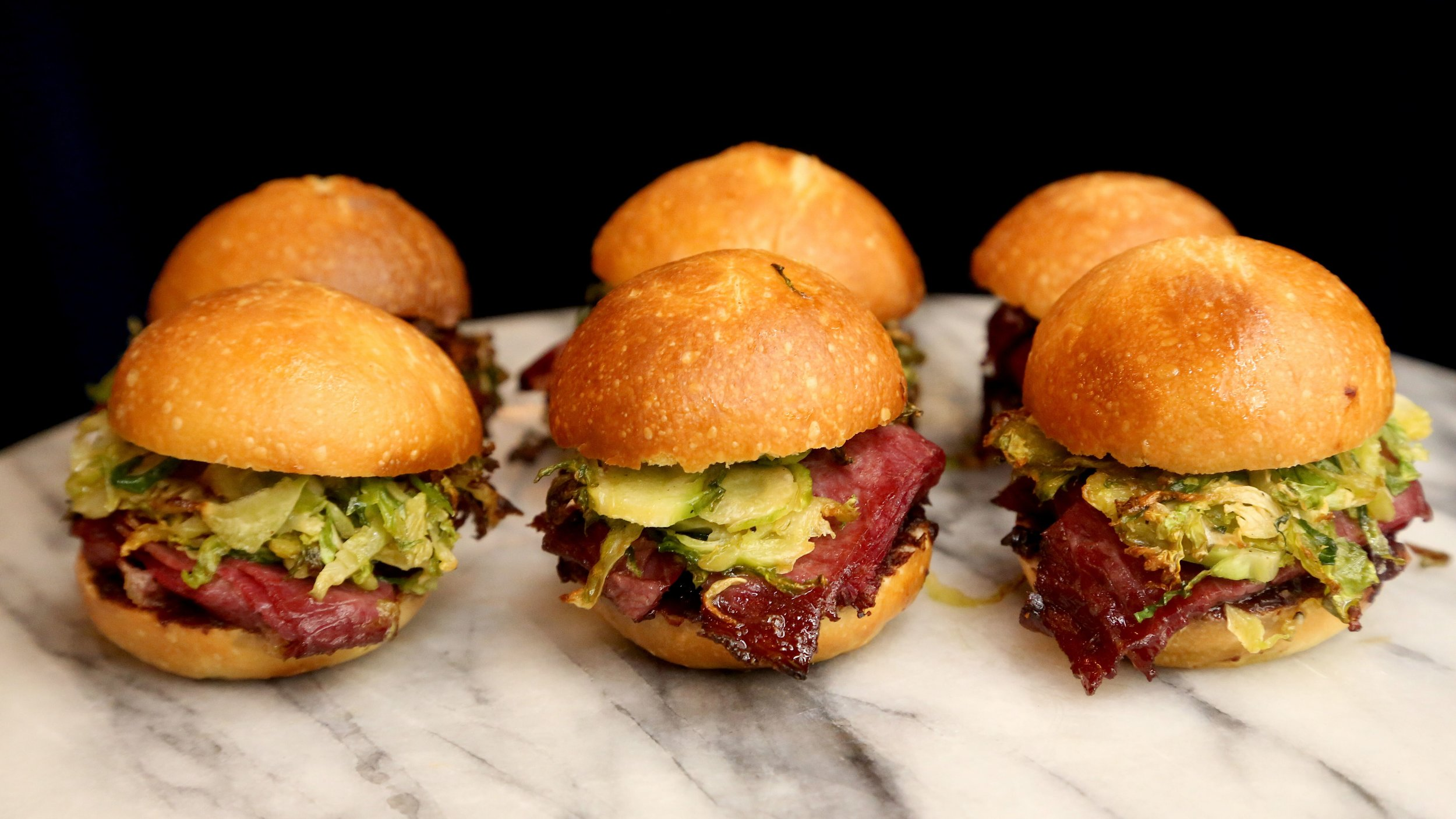 Cherry reuben sliders
