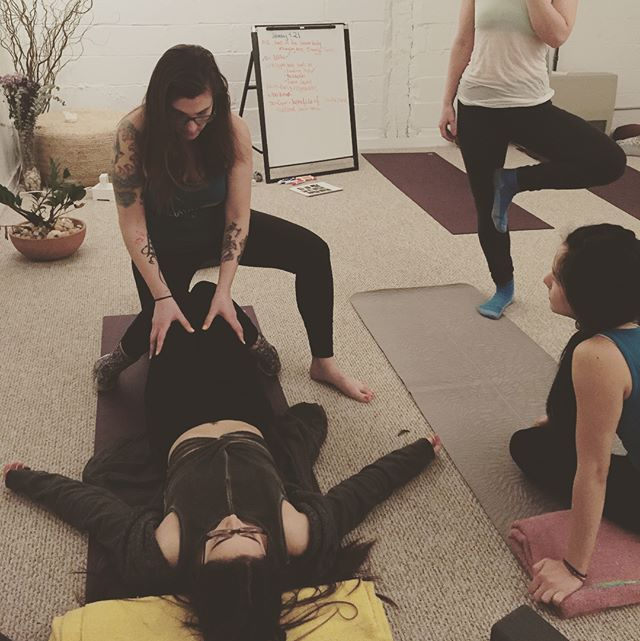 Teaching future #yogateachers is pretty much amazing. 😍😍😍 . Our summer @abhayayoga teacher training is August 5-August 28th! We have an open house at 11:30 on 4.29. Come ask any questions at all AND if you sign up that day, the training is $50 less! (Early bird price= 1,999!) . . . #yoga #yoganyc #dumboyoga #yogaheals #teachertraining #dumbo #gowanus #gowanusyoga #bodypositive #traumainformed #skills #abhayayoga