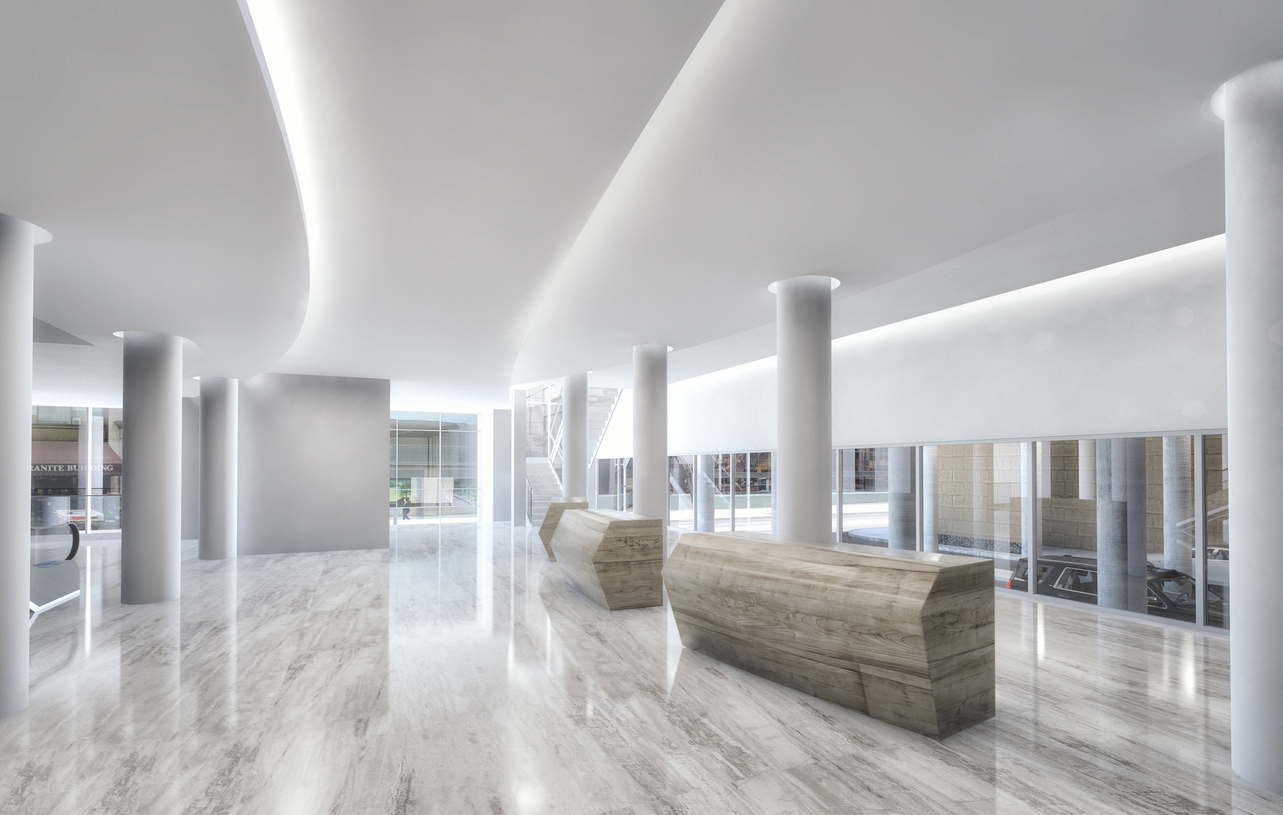Rendering of New Lobby