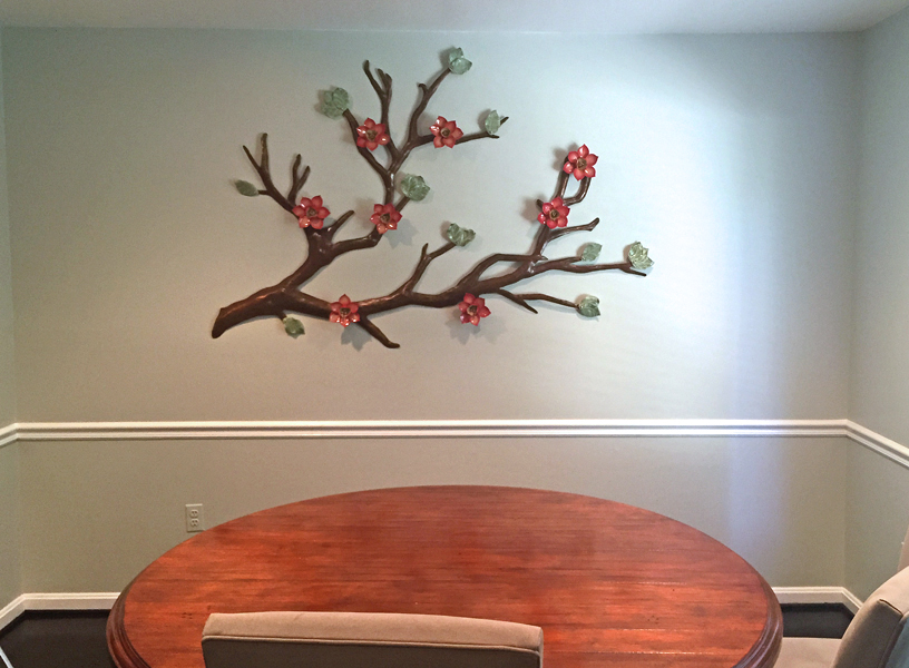 Magnolias in Red really pop! 6'x4'