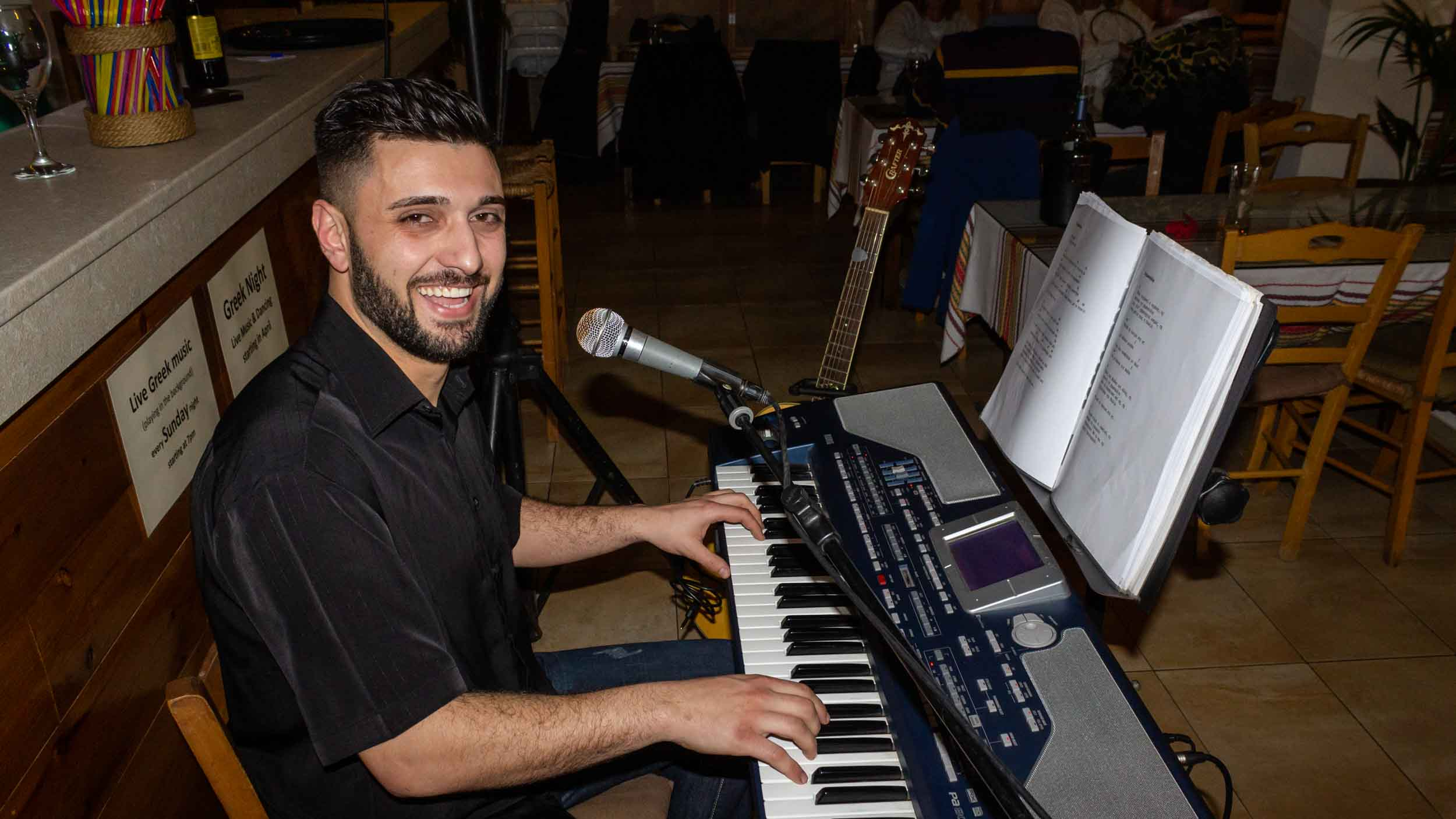 Enjoy your meal with authentic live Greek music every Sunday night -