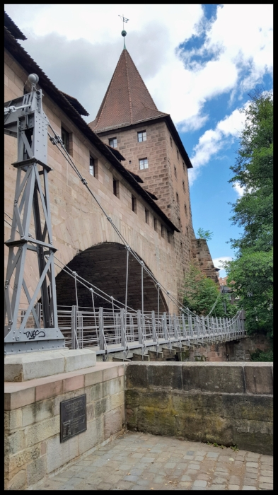 Nuremberg kettensteg bridge