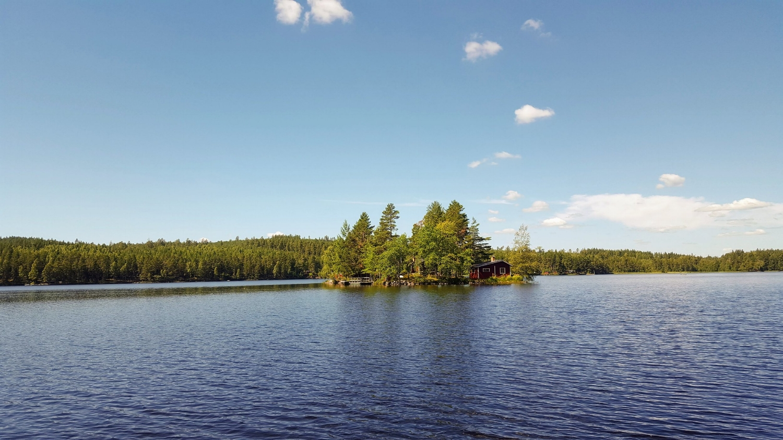 Lake Vällan Falun