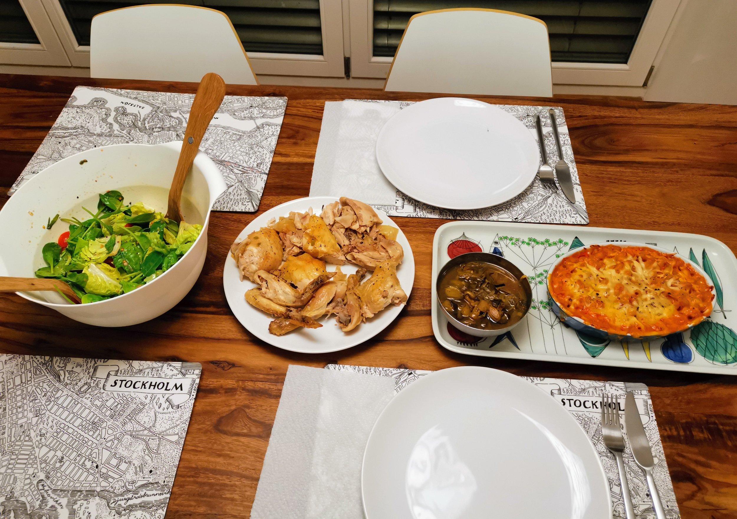 roast chicken with nduja mac & cheese