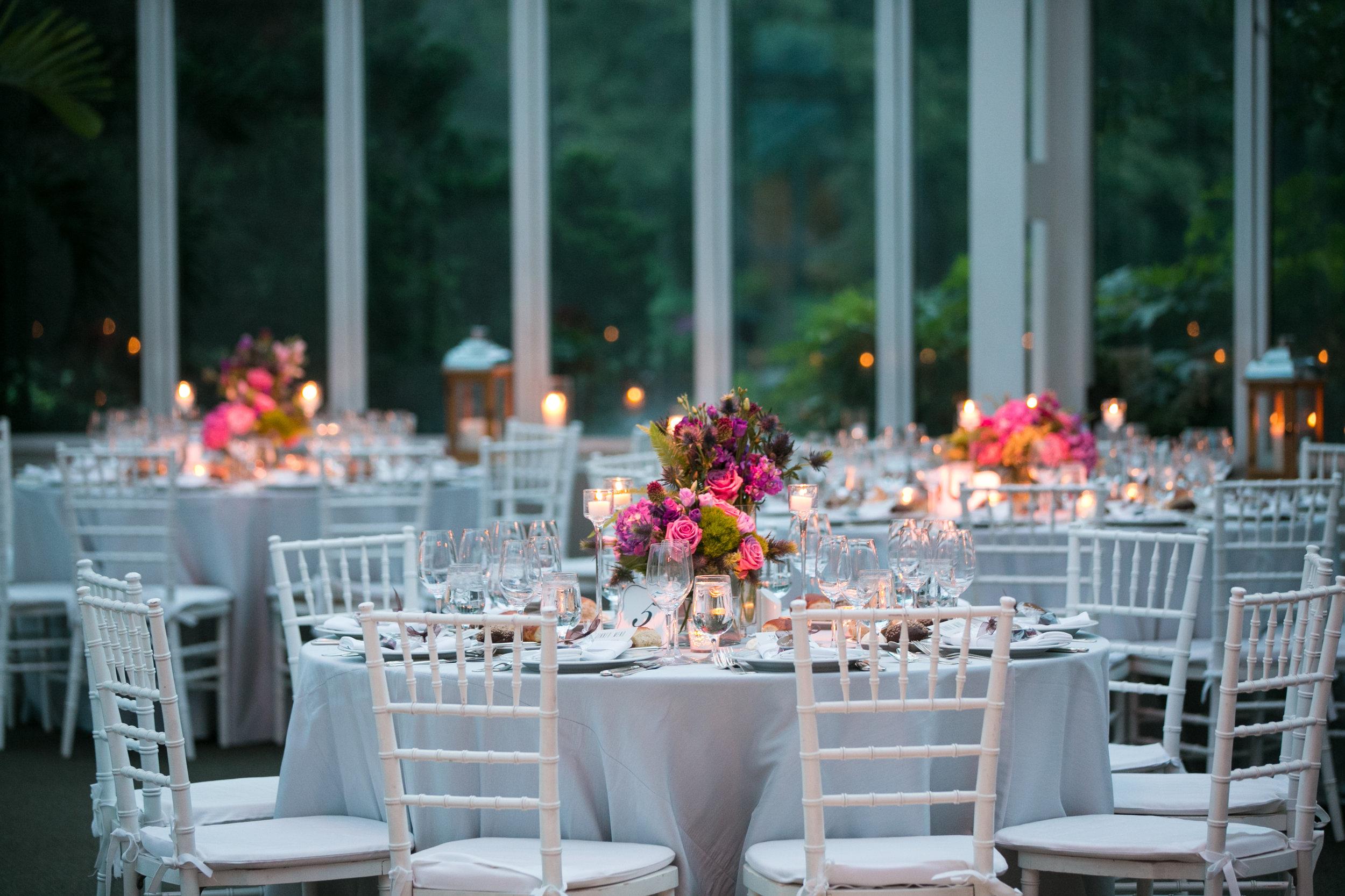 Brooklyn Botanical Garden wedding reception