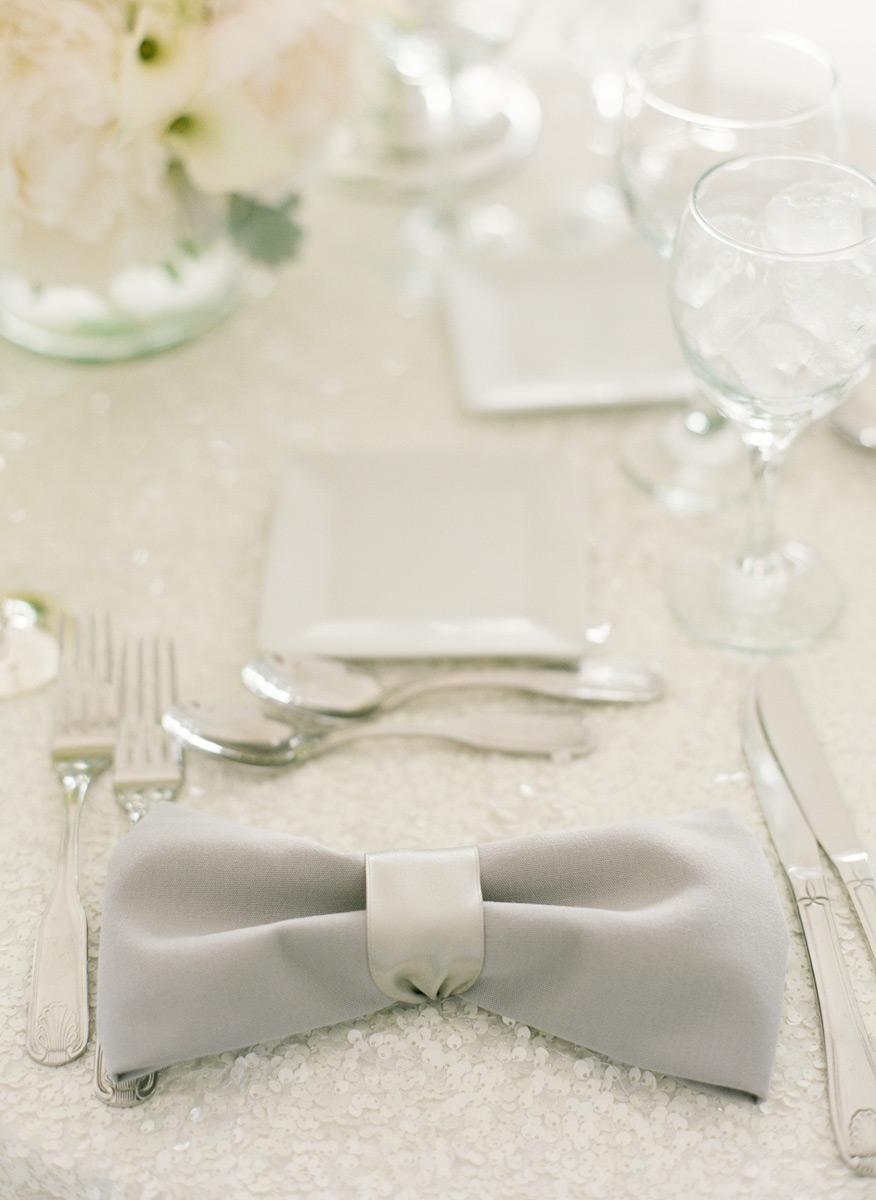 Bowtie napkin detail