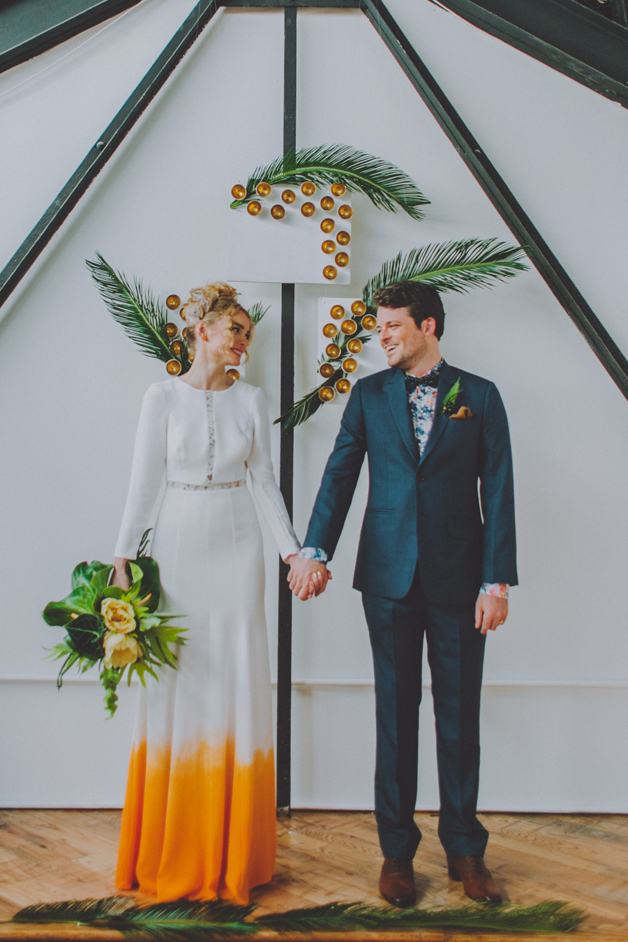 Tropical inspired wedding