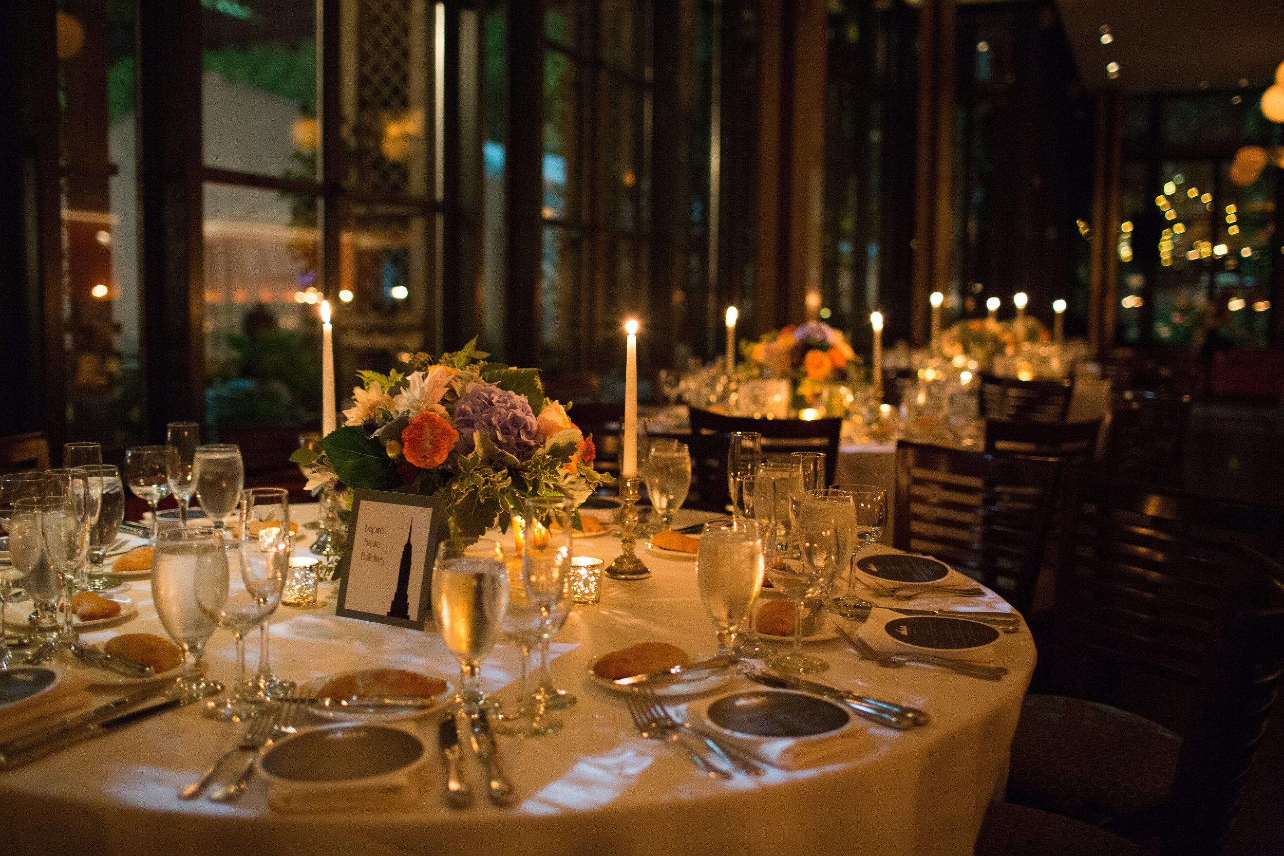 Bryant Park Grill wedding reception