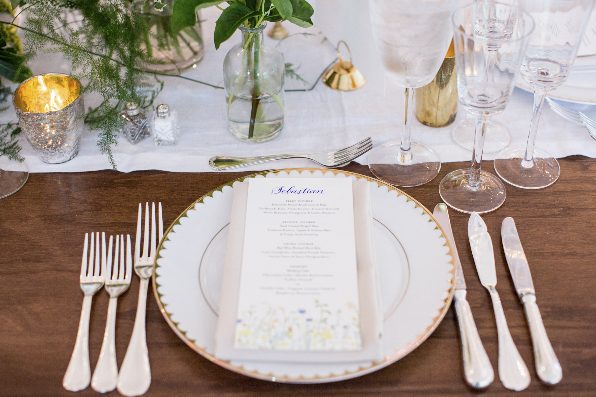 Menu card by Katie Fisher Design