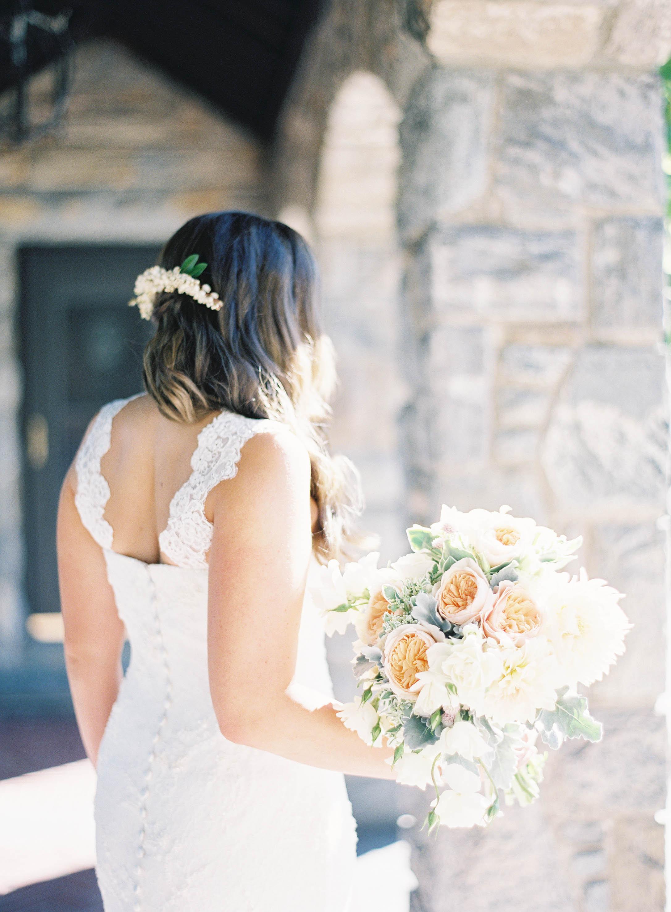 Juliet garden rose bridal bouquet