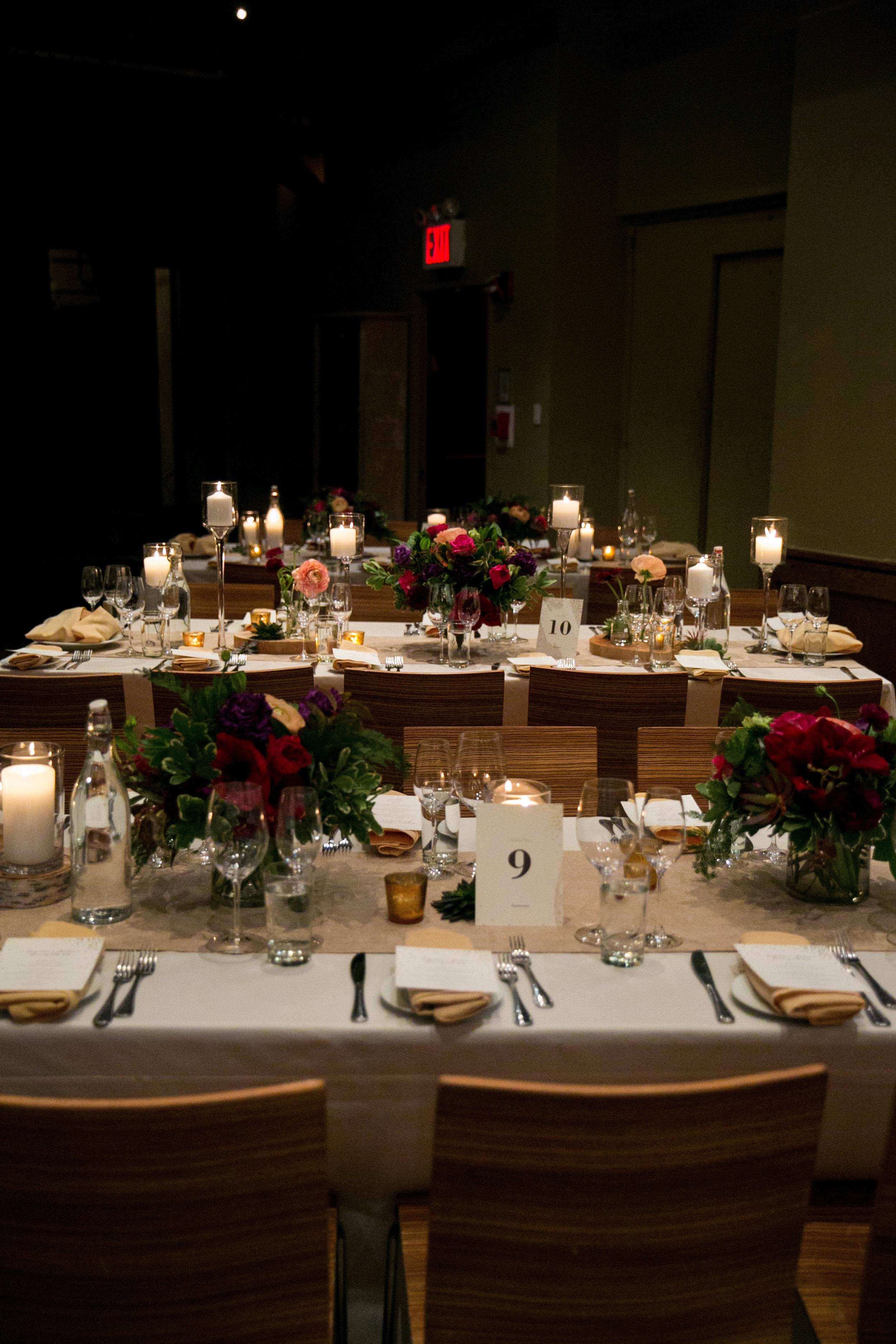 City Winery NYC wedding reception