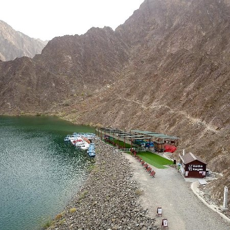 The vast lake formed by Hatta Dam and its surrounding mountains is popular among those who seek relaxation in a natural place and a new experience of practicing kayak sport in UAE. (from the Hatta Kayak website)