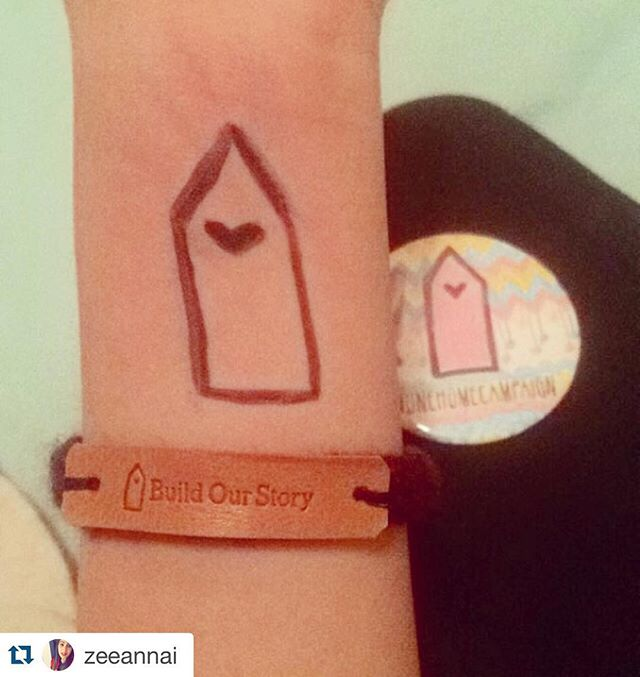 @zeeannai got her #OneHome bracelet by donating at onehomecampaign.org. All donations go to providing aid to Syrian refugees. Get one today! @onehomecampaign #BuildOurStory #OneHomeCampaign