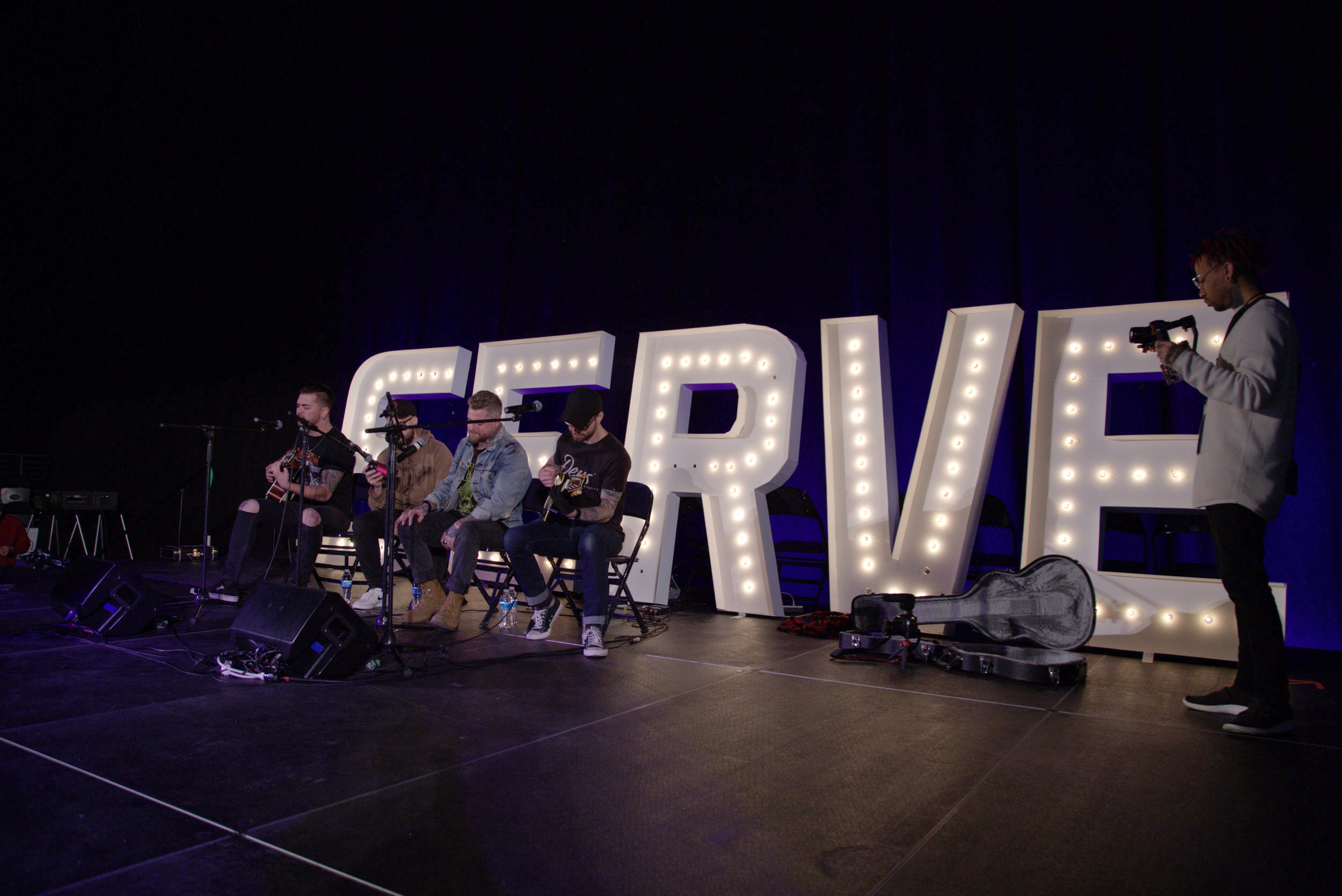 Davey Muise performing with his band Trove