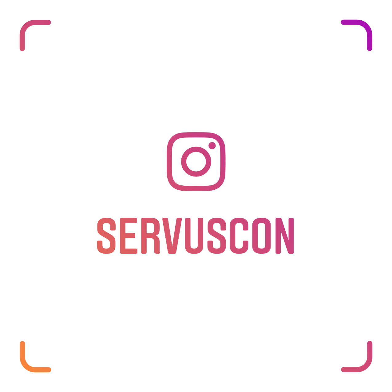 @SERVUSCON Instagram Name Tag