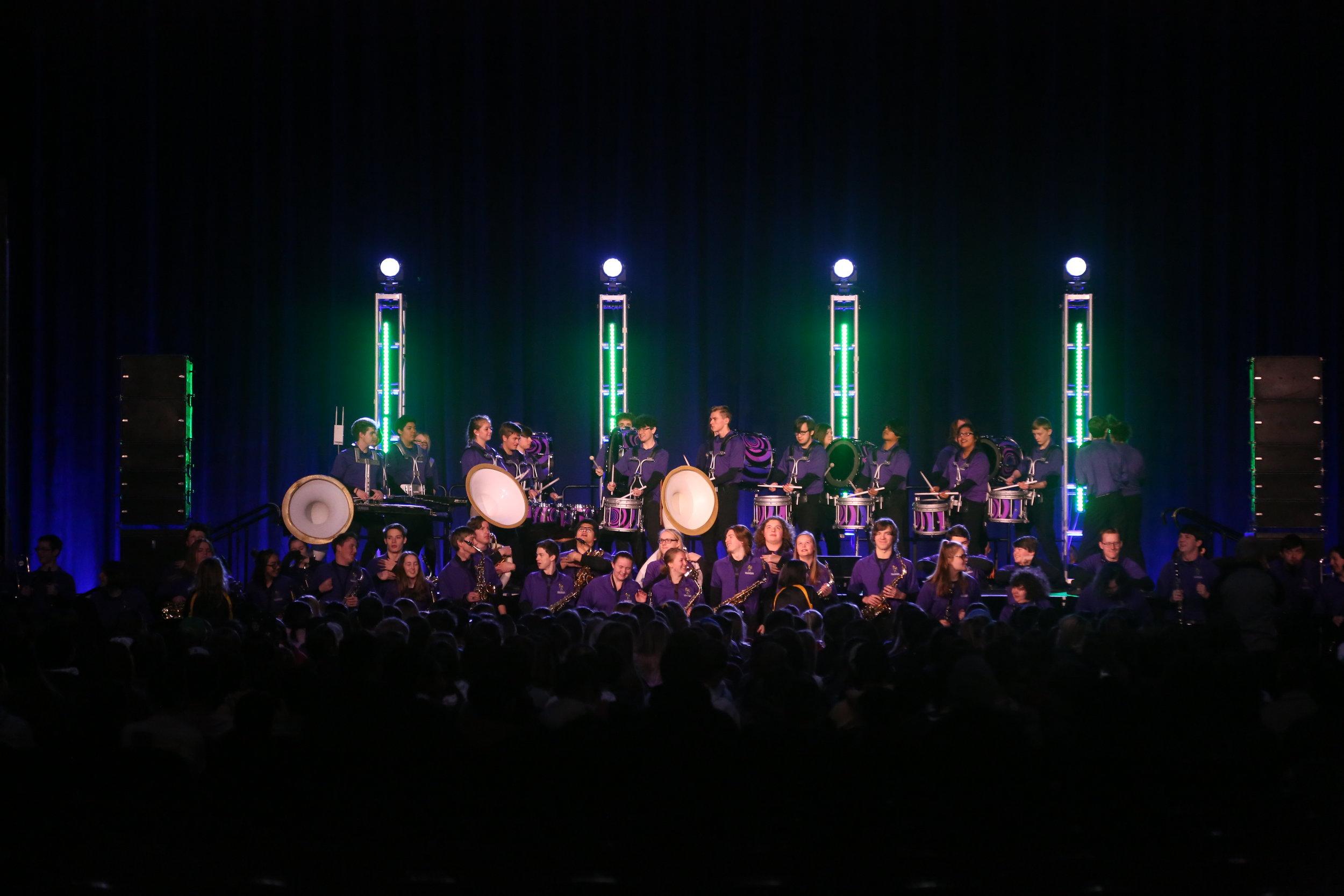 The Award Winning Sumner High School Band Kicking Off SERVUS 2019