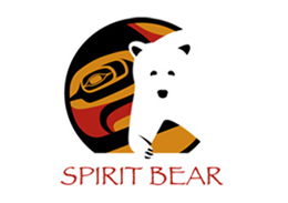 Spirit Bear - The Raven within the logo is symbolic of the transformational journey the community is taking. The Spirit bear brand works as an inspirational catalyst to honour, value and assist in the reawakening of their unique identity and culture.