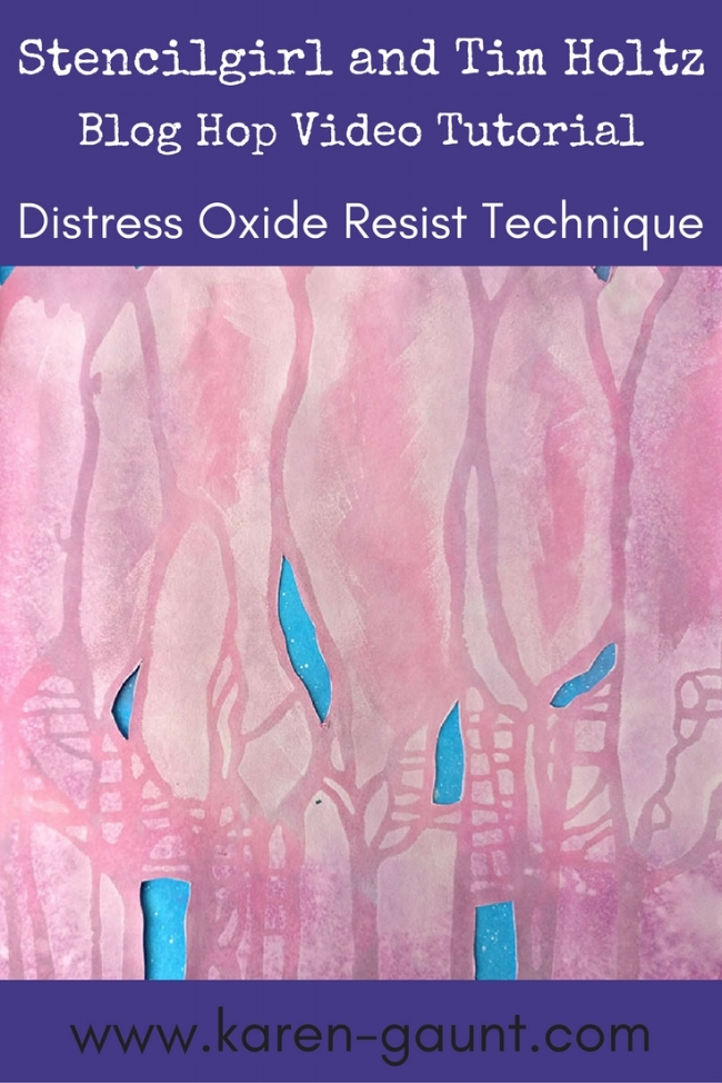 Working with the Distress Oxide Inks and Stencilgirl stencils is a match made in heaven as far as I am concerned. I'm sharing with you a great resist technique in my mixed media art journal using gesso and the distress oxide inks from Tim Holtz. Follow along my mixed media technique with my video.