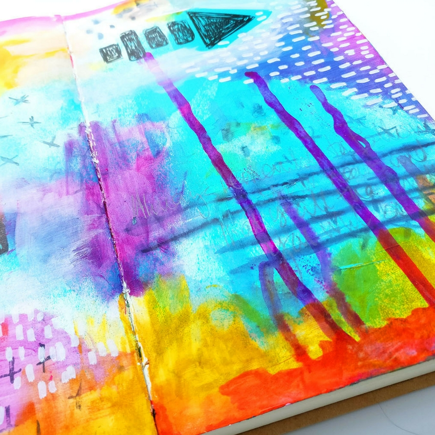 When I sit down to Art Journal it can be so easy to throw everything at it and it can be a lot of fun as well! In this Art Journal tutorial video I'm using some gorgeous ink and Roben-Marie Smith's stamps from her mixed media essentials set. #artjournal #mixedmedia #artjournaltutorial #artjournalideas