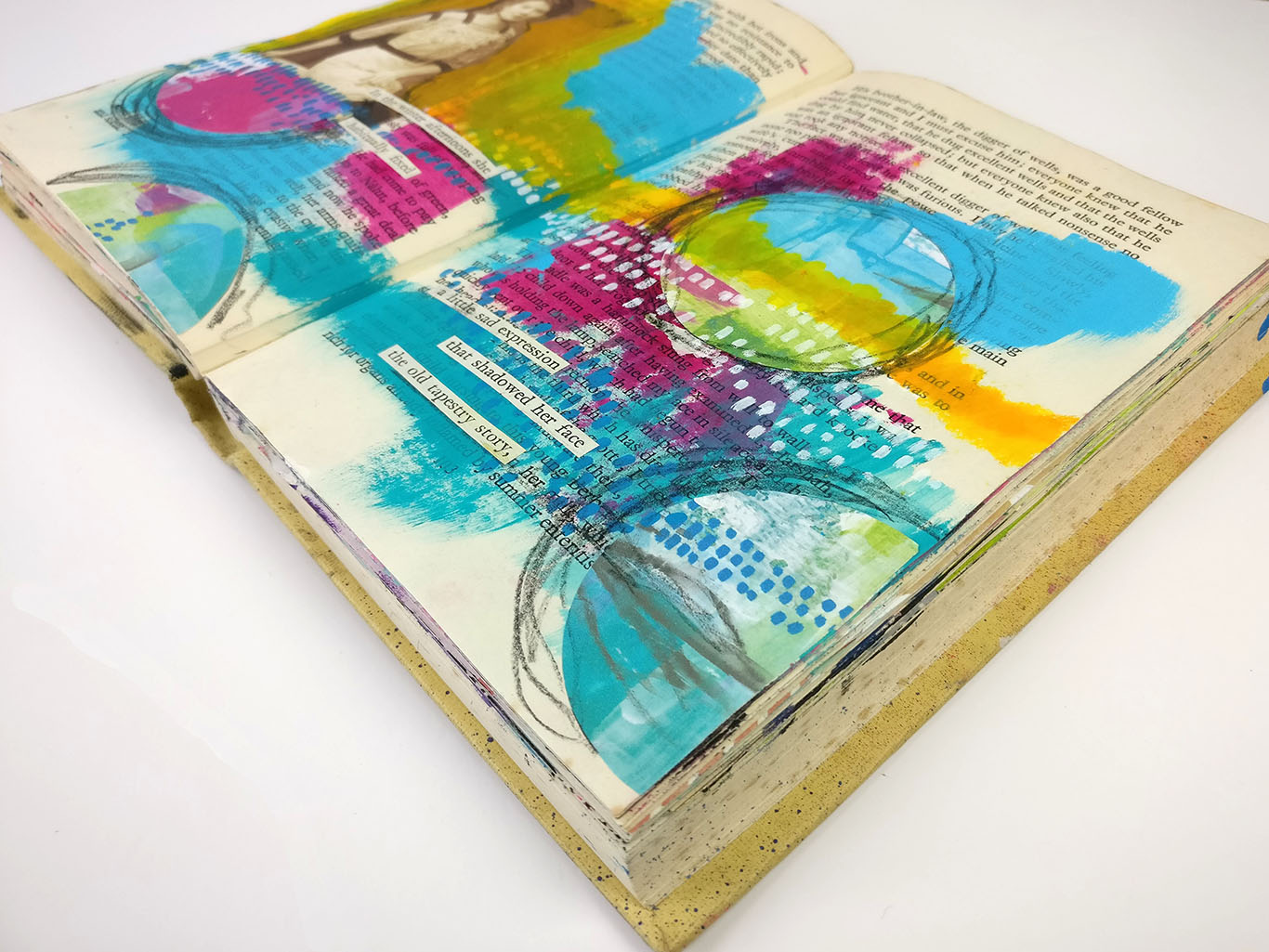 Altered Book Art Techniques | My Top Five Tips  Hands up all my impatient and often lazy artists? Is it just me or does prepping things for forever just put you right off getting started? When I first looked at altered book they just seemed like so much work before you even started! Well I couldn't be doing with that so I am sharing my top five tips for working inside an altered book