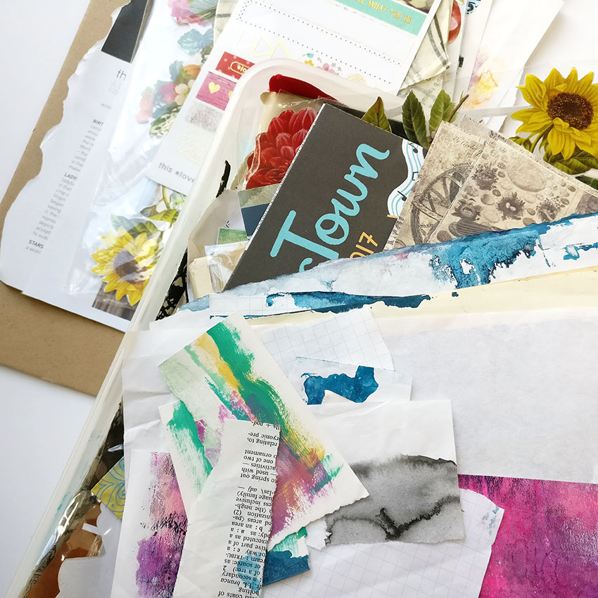 If you're anything like me you have piles and piles of bits and pieces in your art stash. I'm sharing a really simple way of to organise your paper stash and actually get it used!  Collecting these pieces is amazing but soon your paper that you collected for inspiration and to use in your art journal. Follow my simple suggestions and soon you won't be stuck for ideas whenever you open your mixed media journal!
