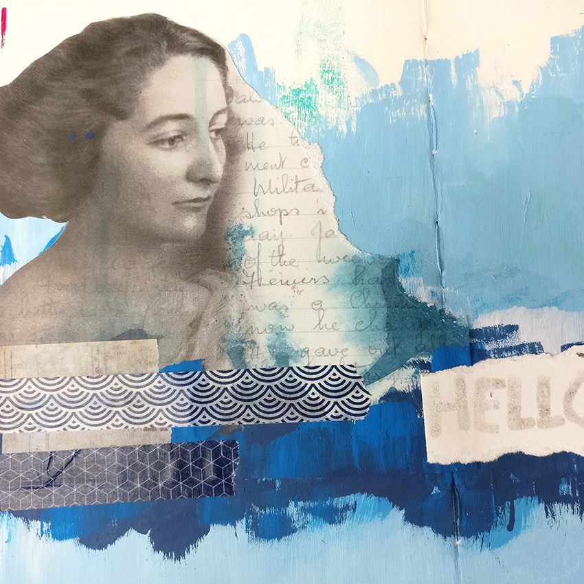 Choosing colors isn't always easy, especially when you're just starting out with art journal. I wanted to create my version of a minimalist art journal page and that was by limiting myself to only one color, blue. Join me as I create this simple page using only paint, my brushes and some simple collage items, this page is perfect for the beginner art journaller!