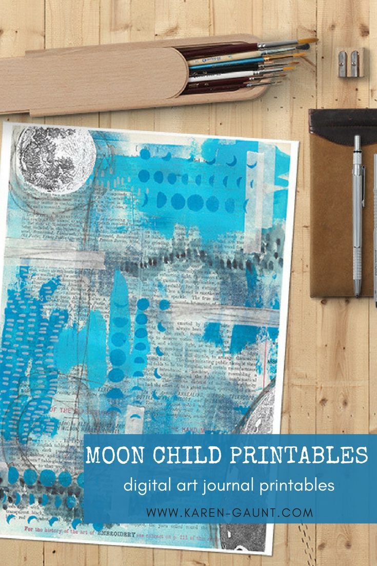 Bring the power of the moon into your journals with these hand designed digital printable designs. Download the PDF files instantly and print them as many times as you would like again and again.  They work wonderfully with sticker paper, printable acetate, and simply regular copy paper.