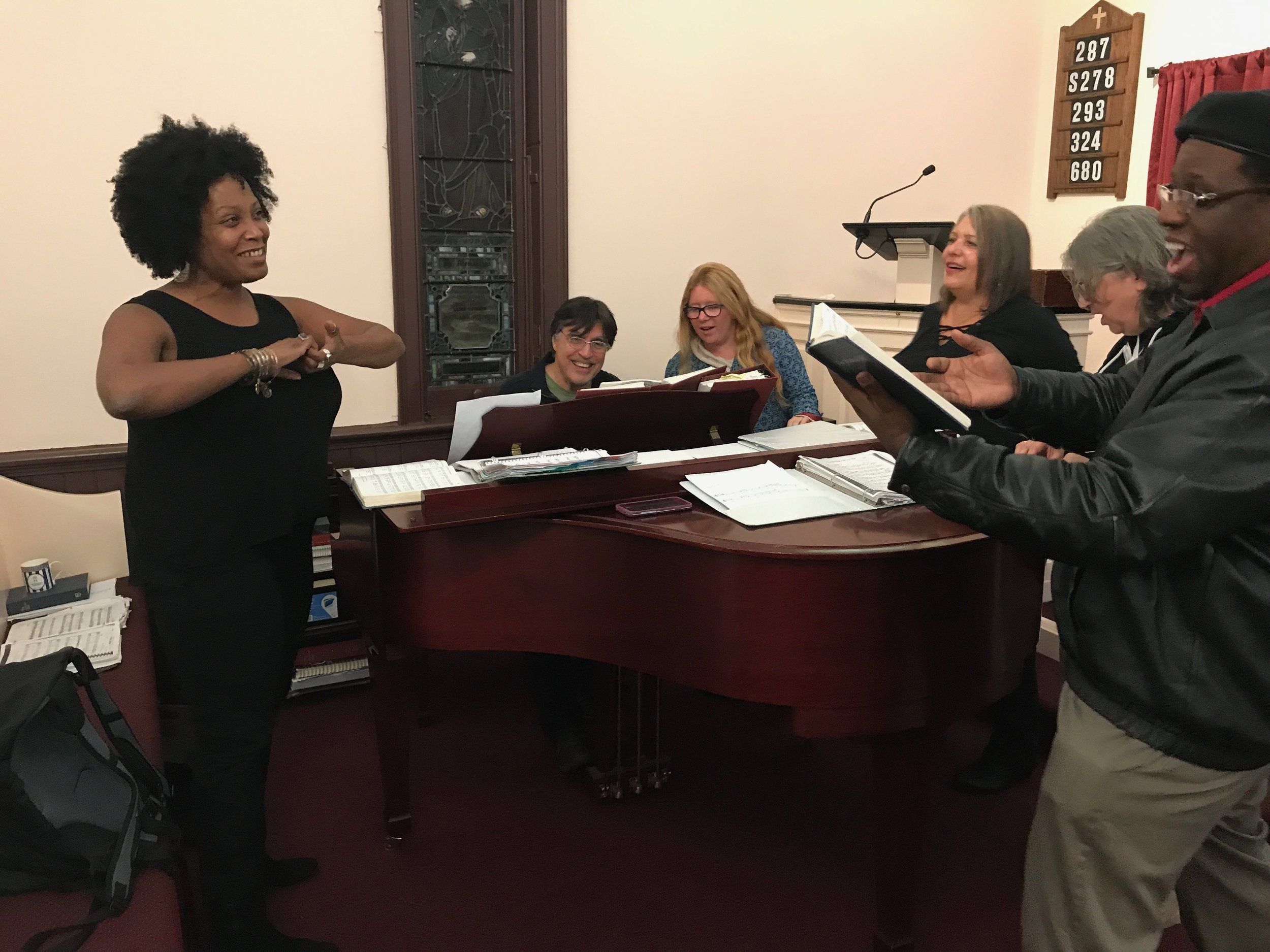 David Jutt, our Music & Choir Director, leads choir rehearsals on Wednesday nights at 7:30 and Sunday mornings at 9:45. Regardless of musical talent, all are welcome to join in!