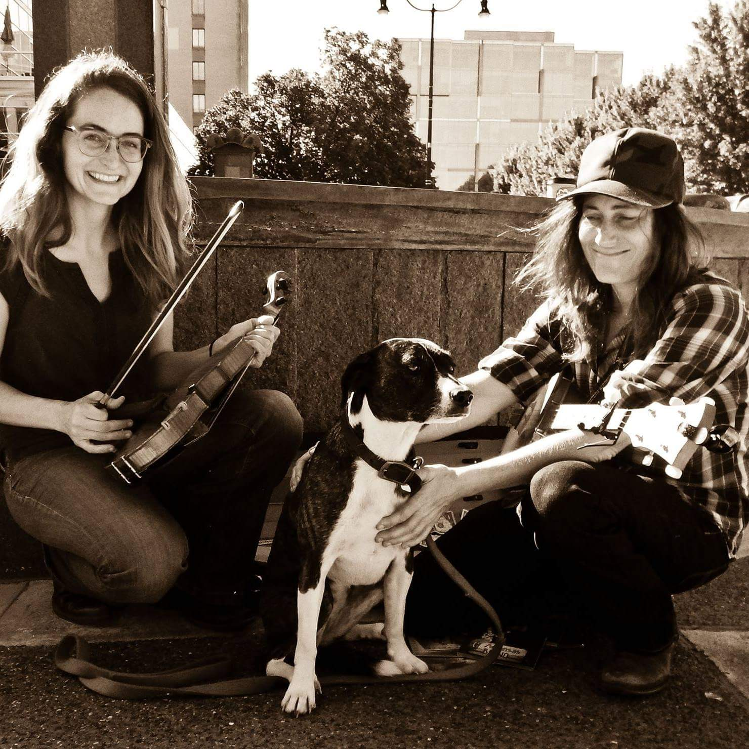 The Buffalo Gals - The Buffalo Gals (Austin, TX) feature Rebecca Patek and Melissa Carper, who will whisk you away to a saloon in the Wild West with their tender and gently wavering
