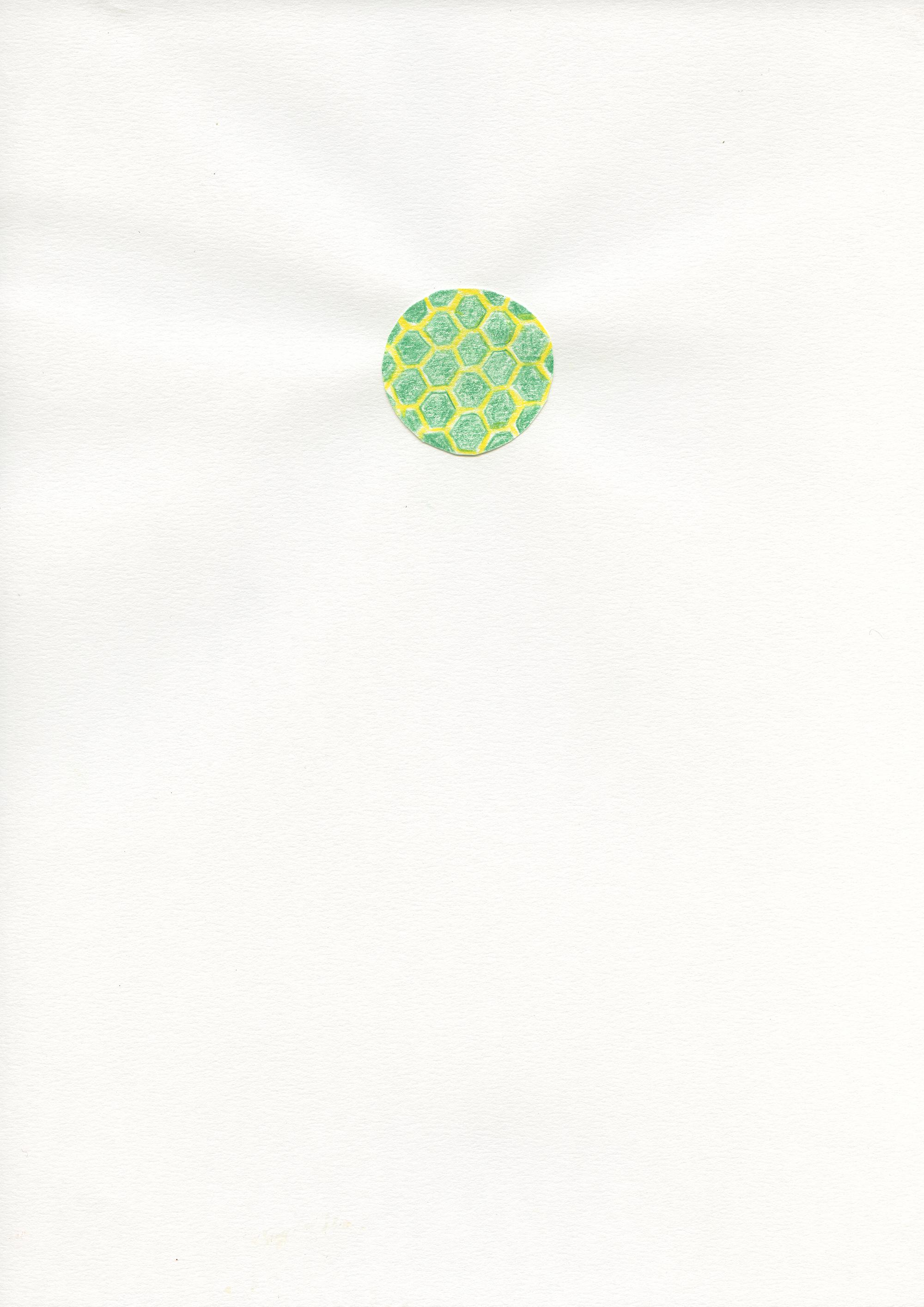 Untitled, 2015, color pencil on paper, 21 x 29,7 cm