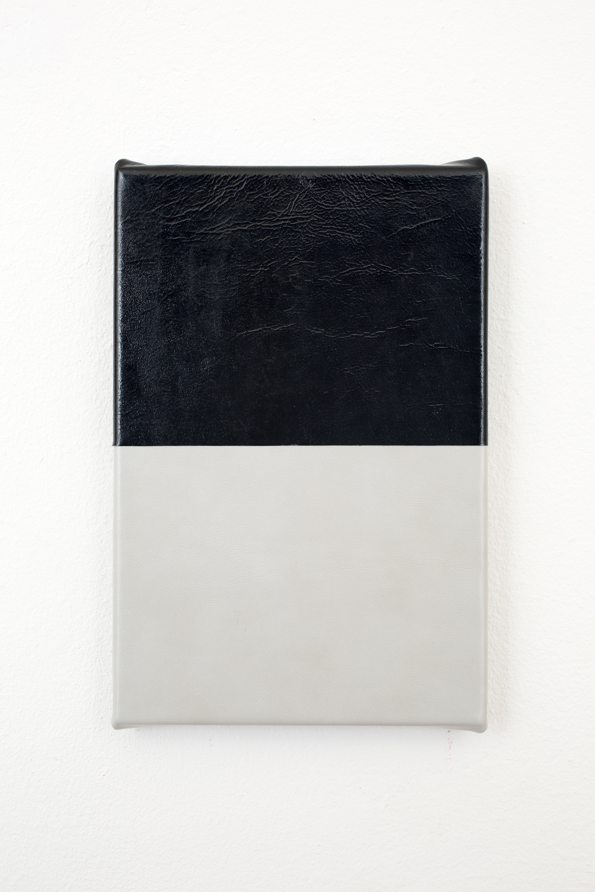 Untitled, 2015, leather on canvas, 24 x 30 cm