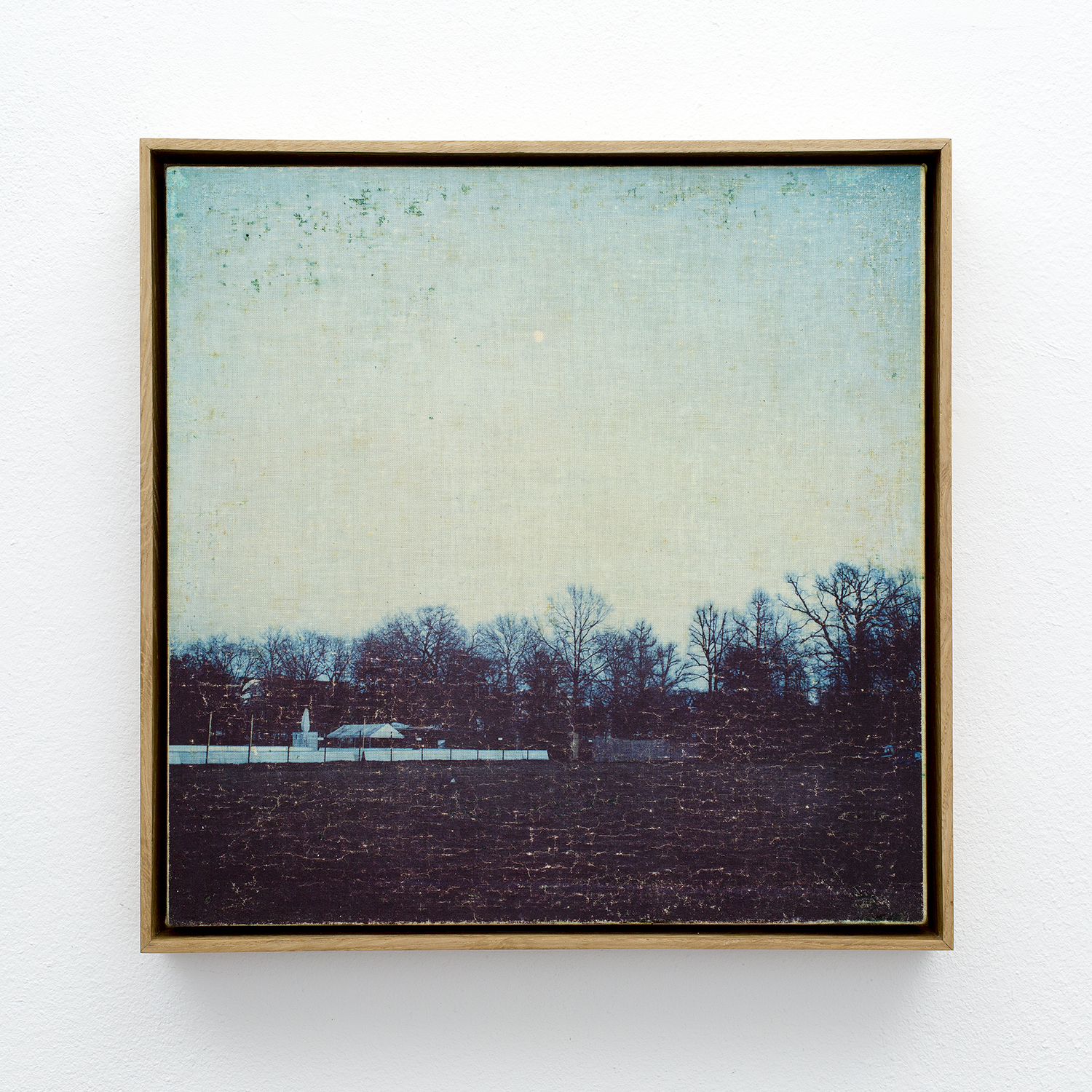 Memory of Others, 2018, transferred image on canvas, wood. 28.3 x 28.3 cm