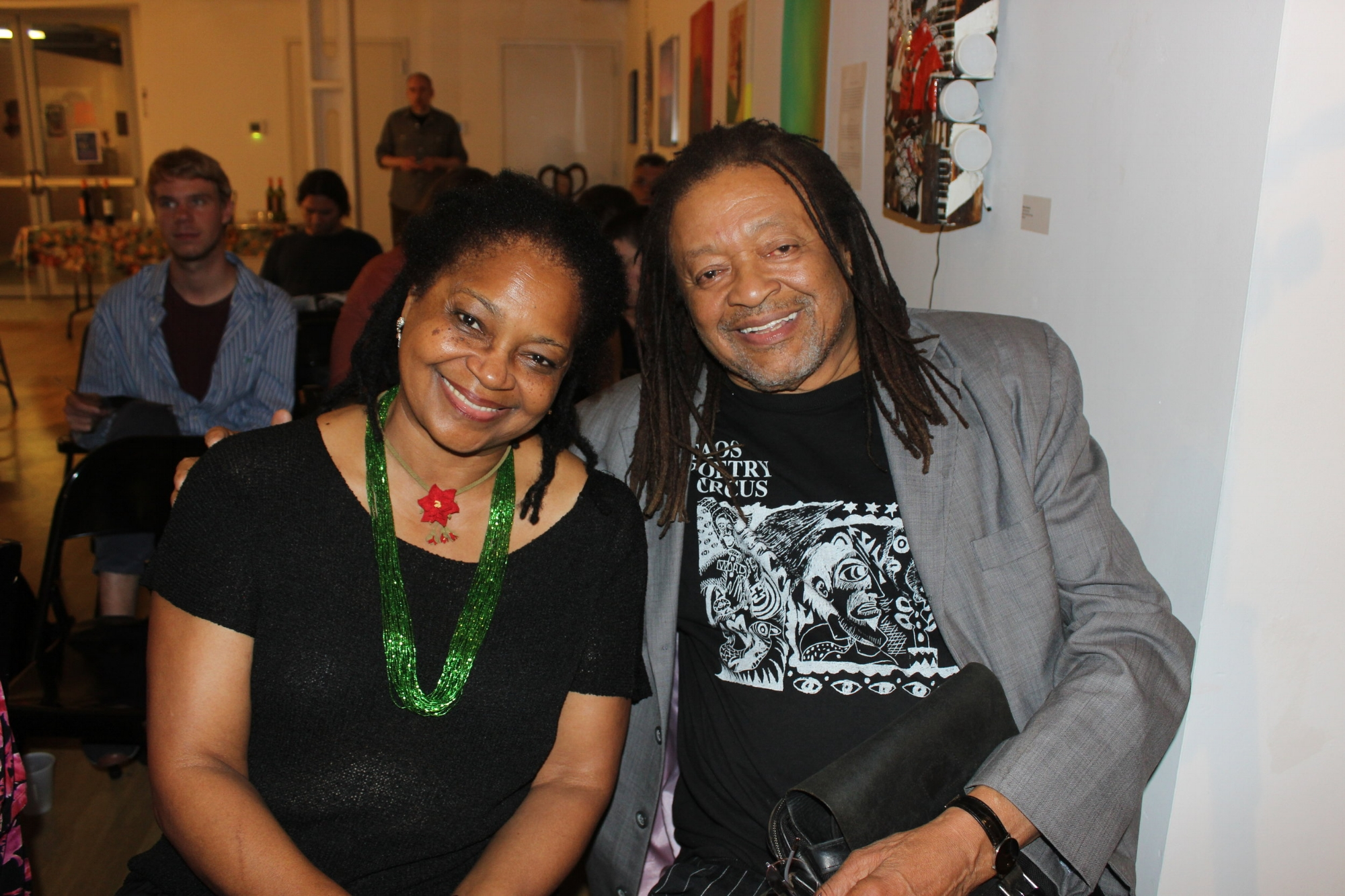 Quincy Troupe and wife Margaret. Photo by vanity gee.
