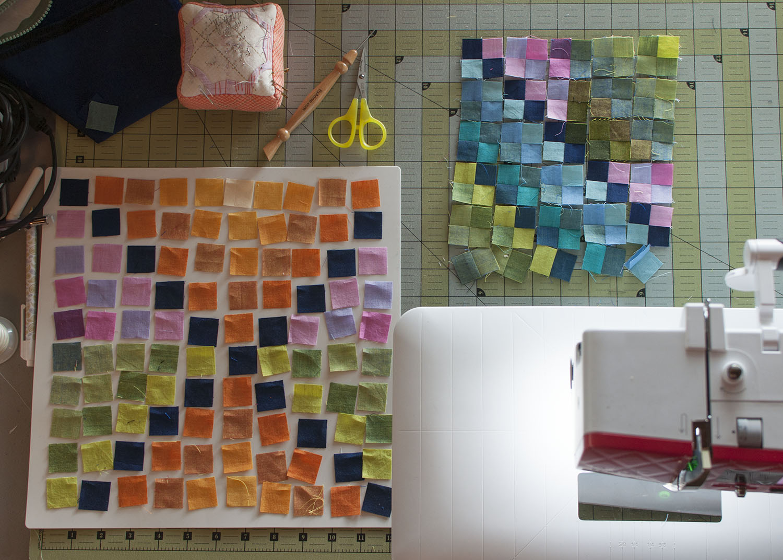 Holly Girls squares in progress.jpg