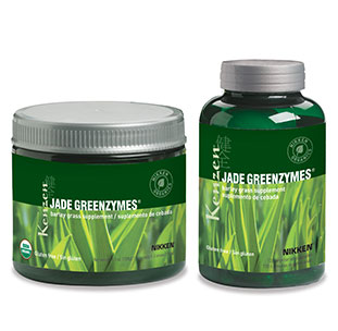 """Jade GreenZymes """"nature's perfect food,""""  barley grass is said to have more nutrition than an equal serving of any other  vegetable."""